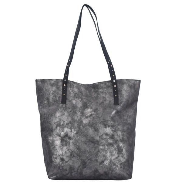Shopper für Frauen - TOM TAILOR DENIM Shopper 'Ronja' silbergrau  - Onlineshop ABOUT YOU