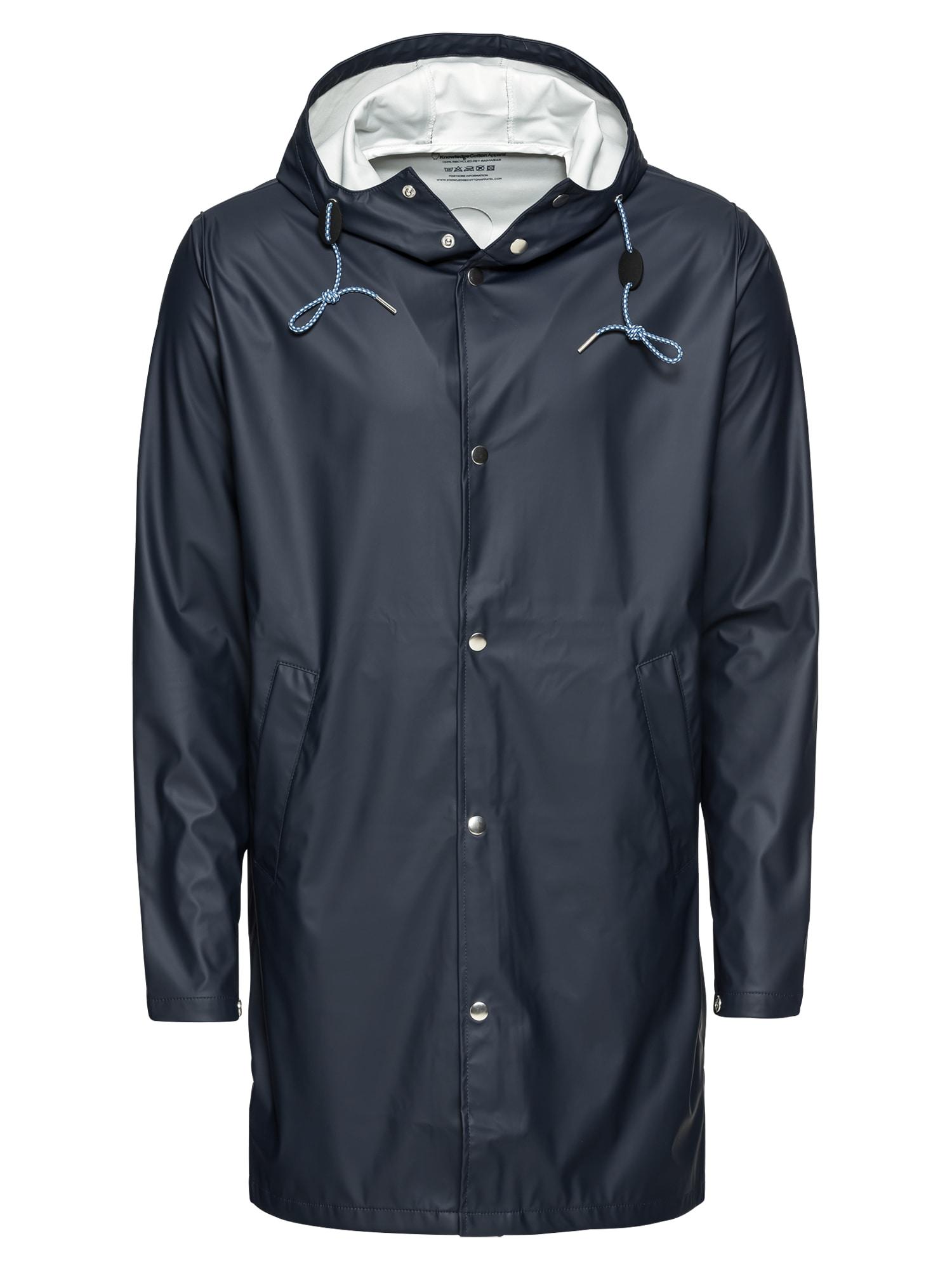 Přechodný kabát Long Rain Jacket tmavě modrá KnowledgeCotton Apparel