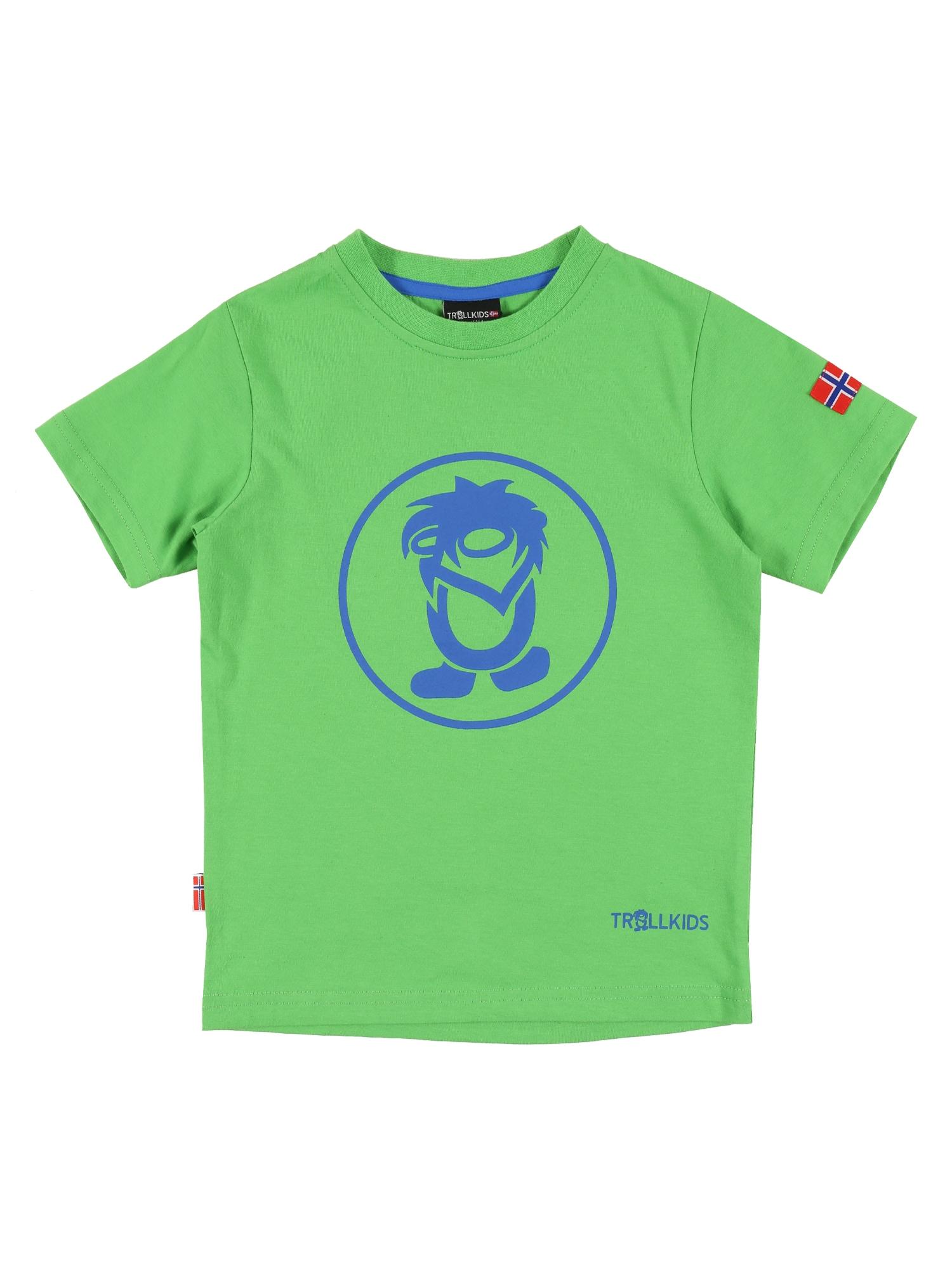 TROLLKIDS Sportiniai marškinėliai 'Troll' šviesiai žalia / mėlyna