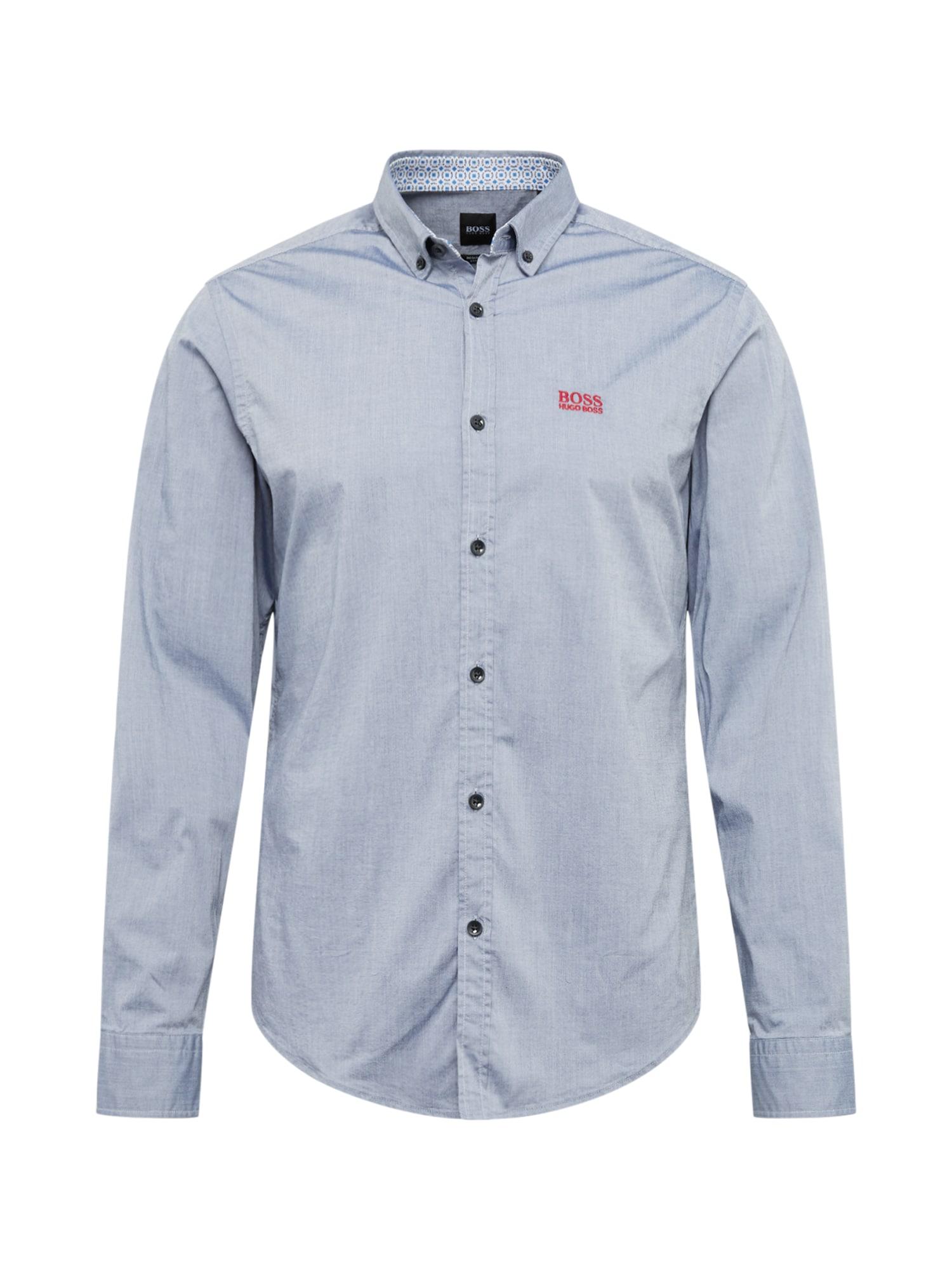 BOSS ATHLEISURE Dalykiniai marškiniai 'BIADO_R' mėlyna