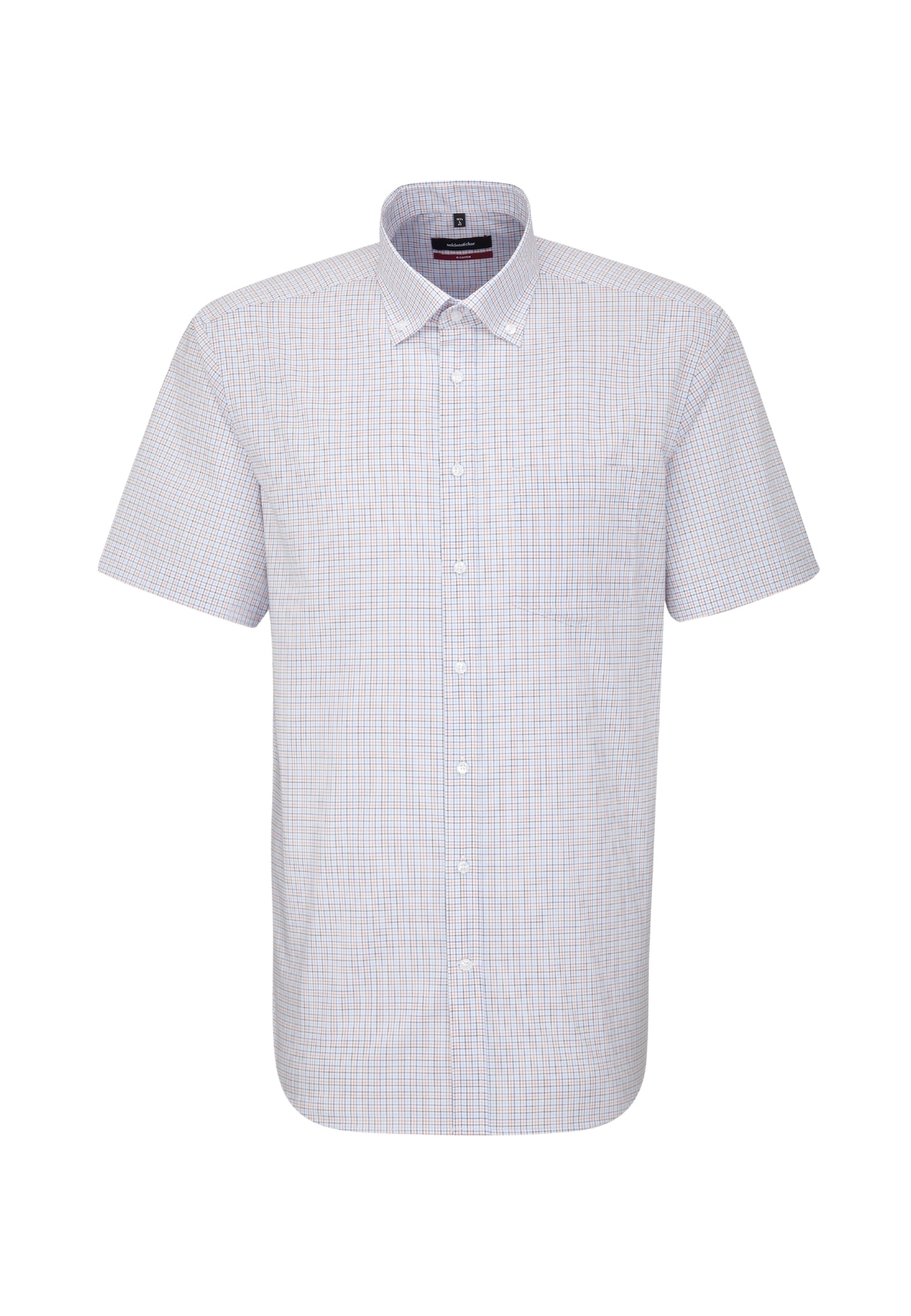 Herren SEIDENSTICKER Hemd 'Modern' blau,  orange,  weiß, schwarz   04048869721083