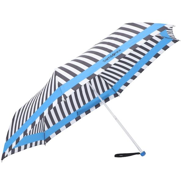 Regenschirme für Frauen - SAMSONITE Taschenschirm 'R Pattern' himmelblau schwarz weiß  - Onlineshop ABOUT YOU