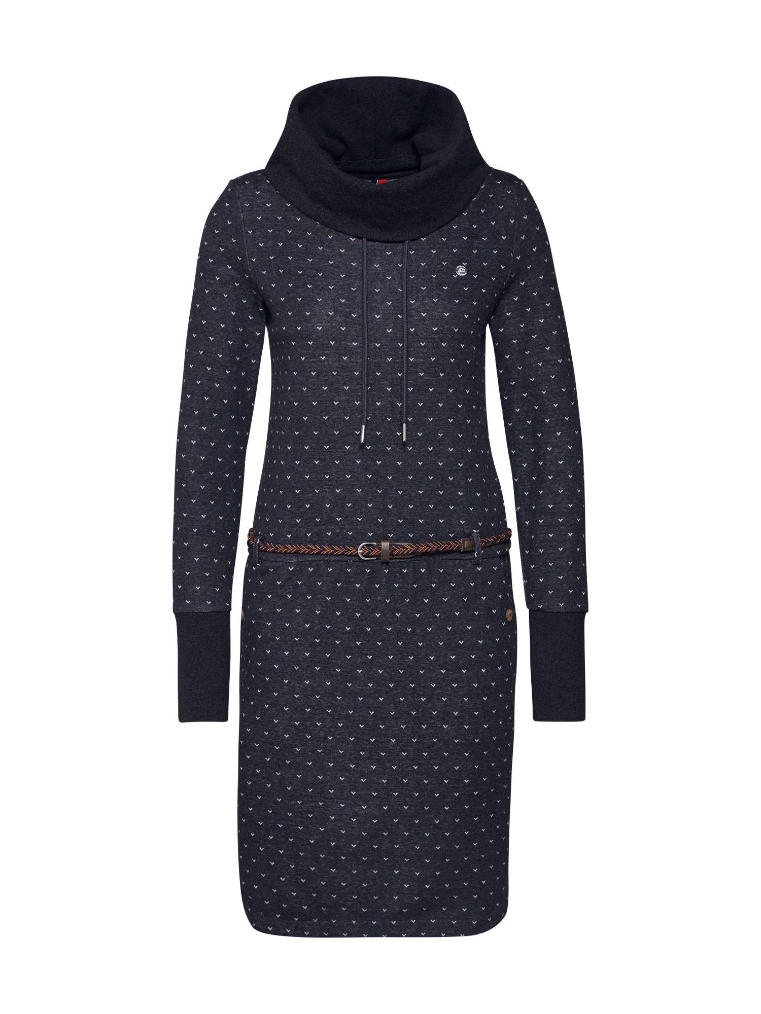 Ragwear Šaty 'LAURA B'  hnedé / svetlomodrá / čierna