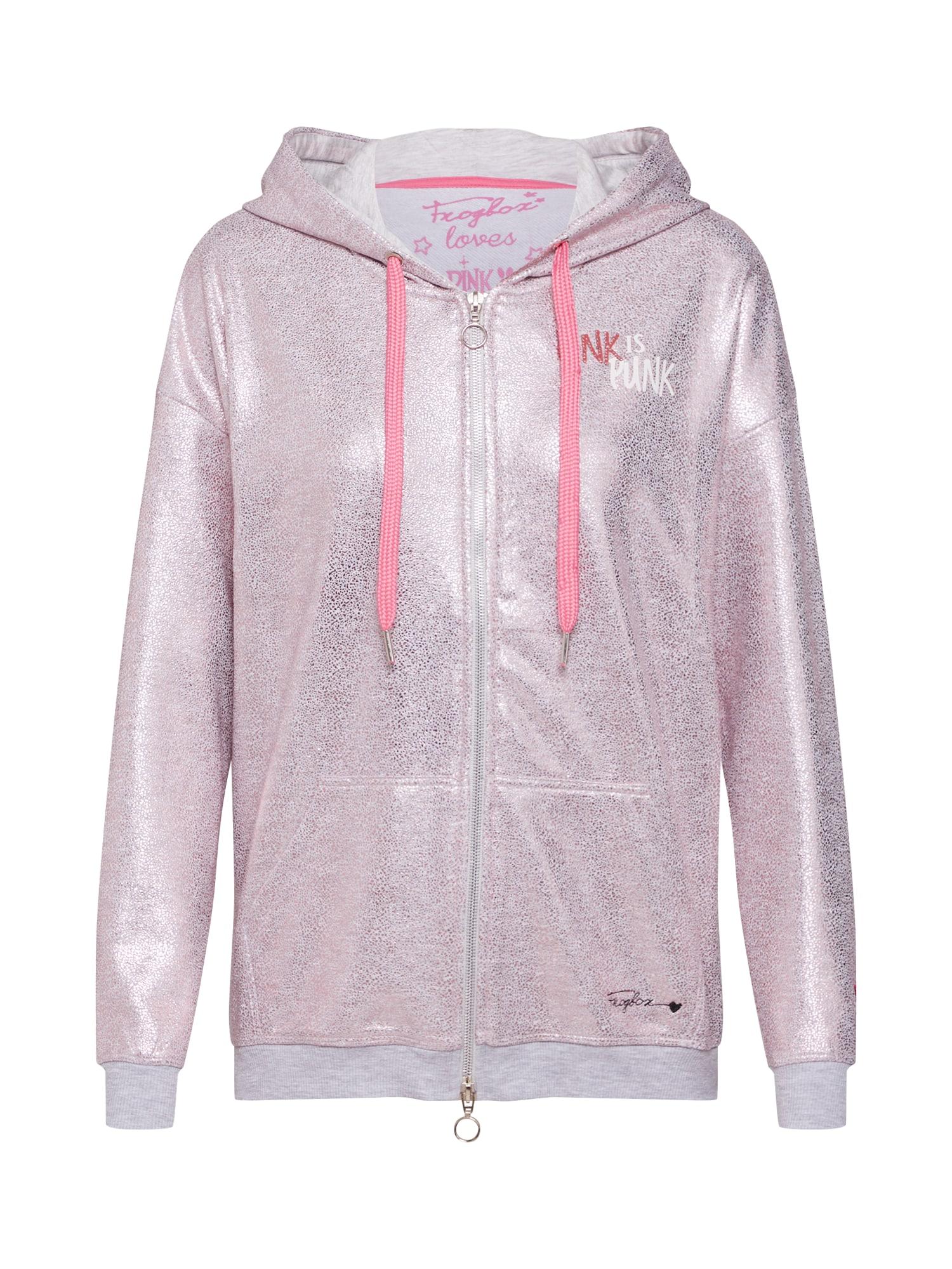 Mikina s kapucí Sweat jacket hoody pinkpanther růže Frogbox