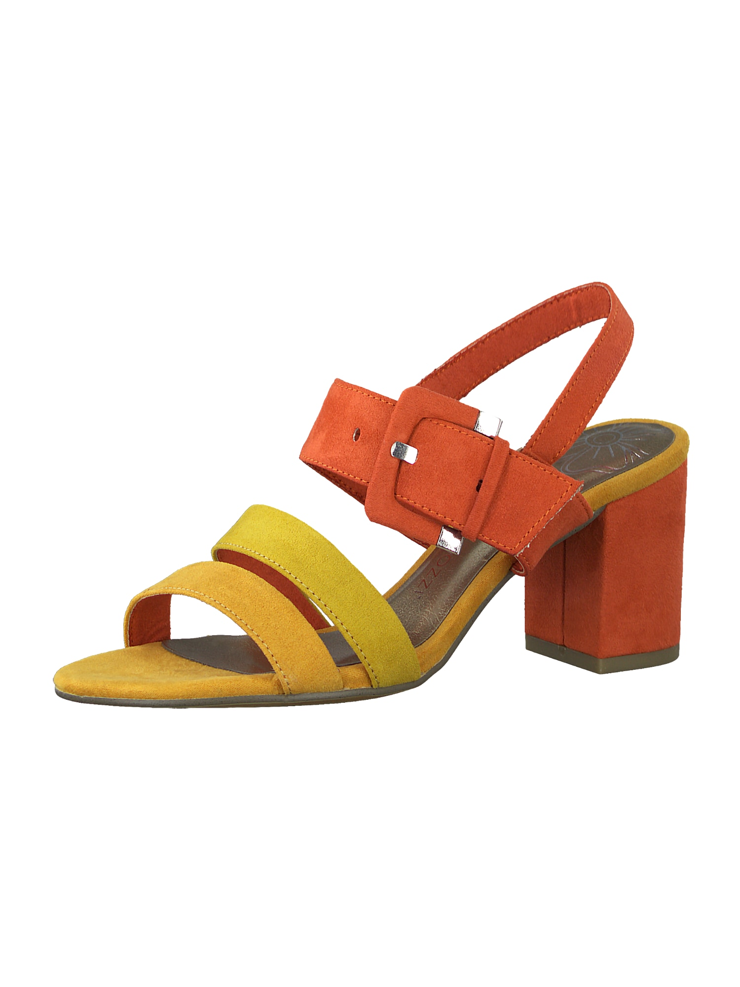 MARCO TOZZI Basutės su dirželiais geltona / oranžinė