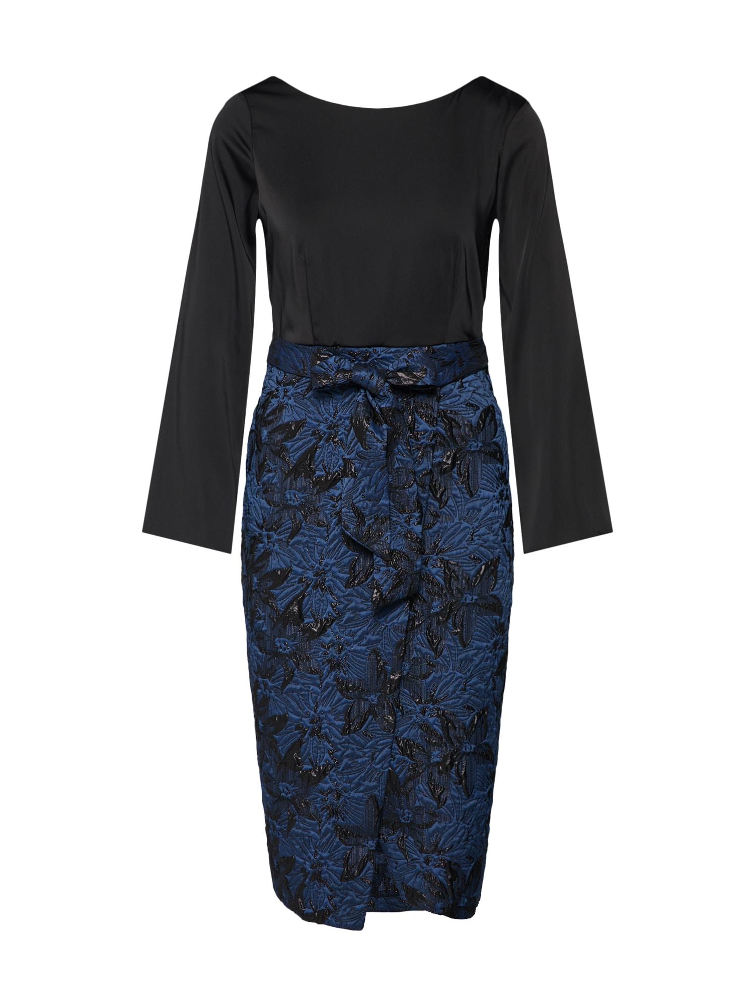 Šaty Closet Gold 2-In-1 Pencil Dress námořnická modř černá Closet London
