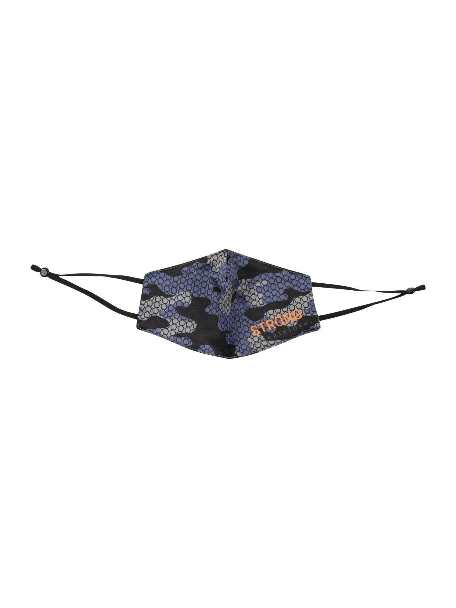 DELICATELOVE Skara 'Camouflage' juoda / mėlyna