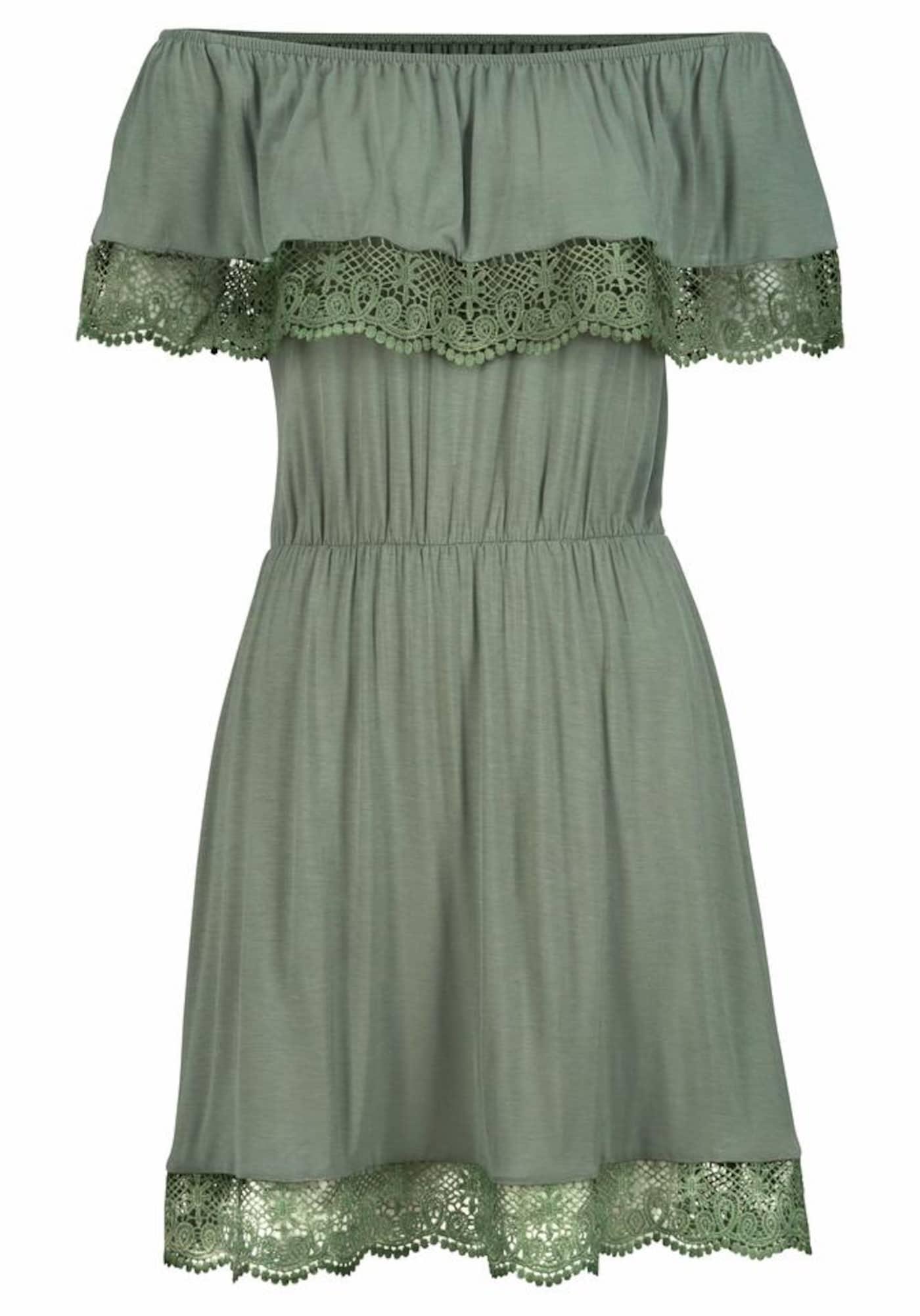 s.Oliver Paplūdimio suknelė rusvai žalia