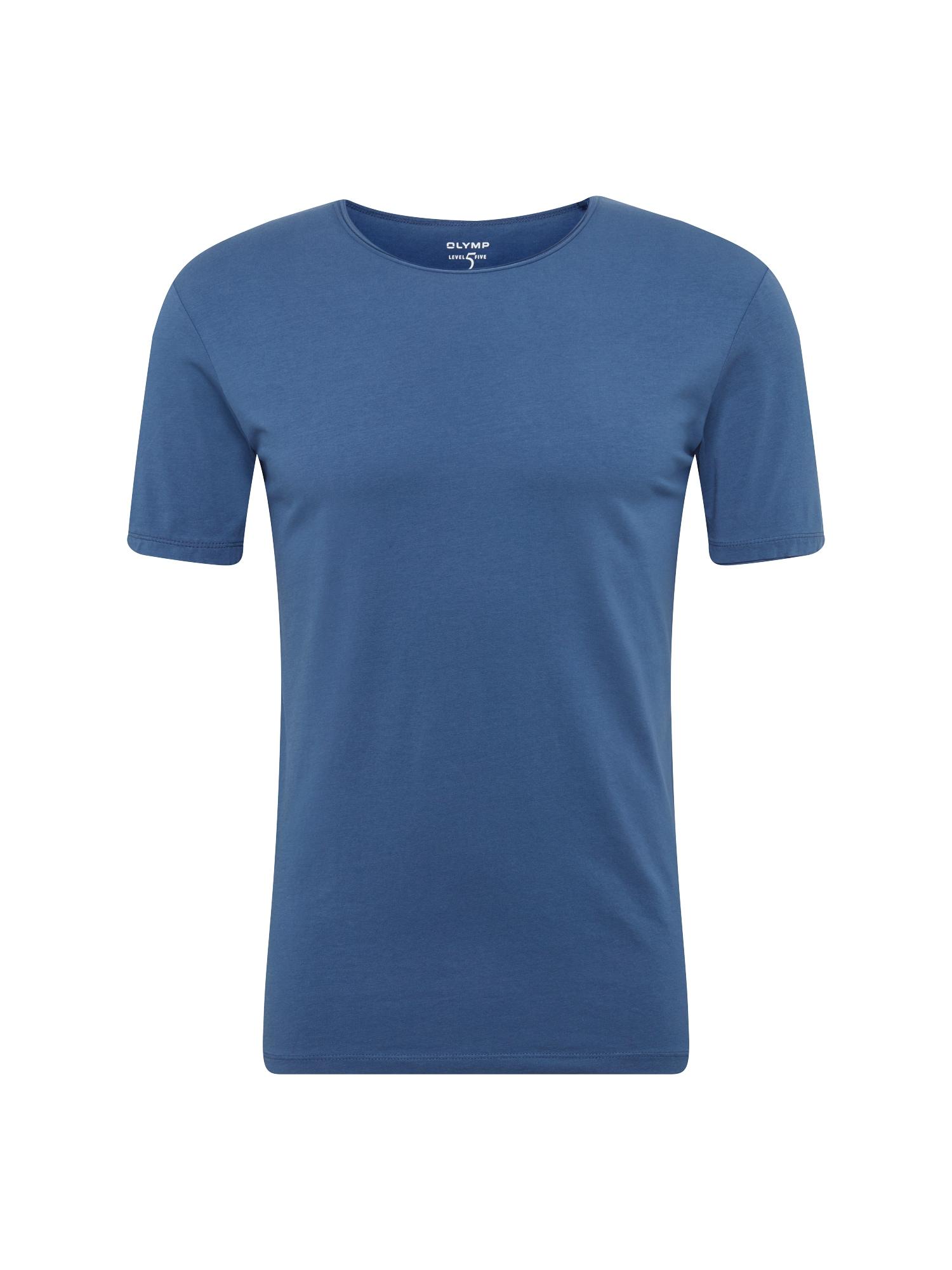 OLYMP Marškinėliai mėlyna dūmų spalva