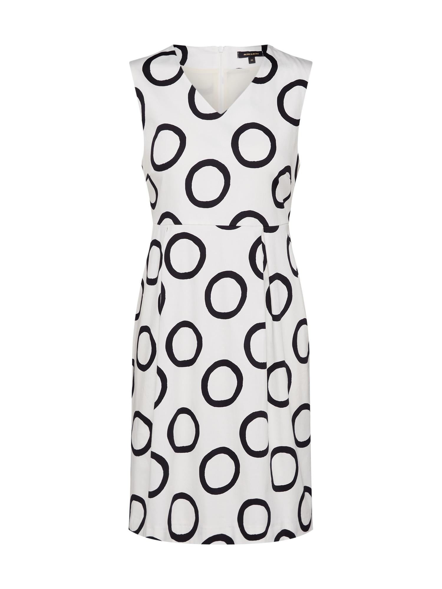 Pouzdrové šaty černá bílá MORE & MORE