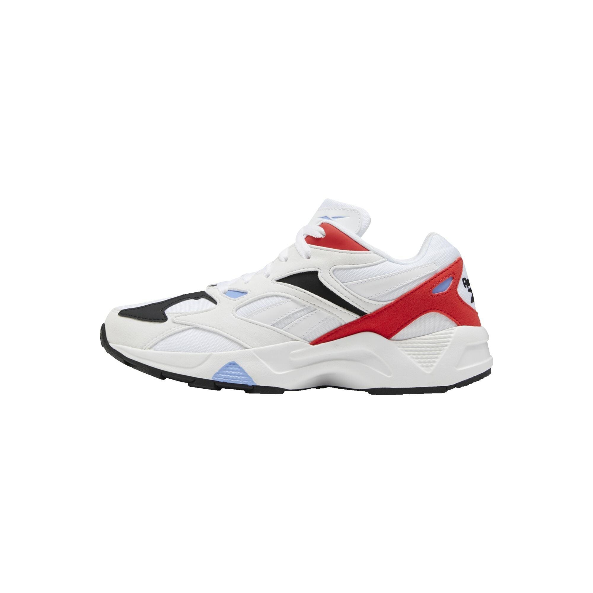 REEBOK Členkové tenisky 'Aztrek 96'  biela / červené / svetlomodrá / čierna