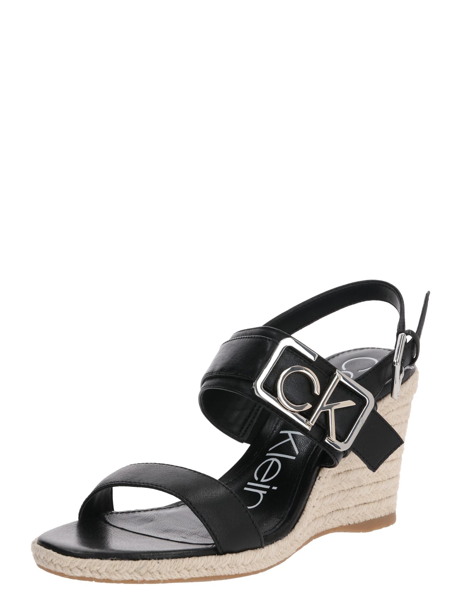 Calvin Klein Basutės su dirželiais 'BELORA' juoda