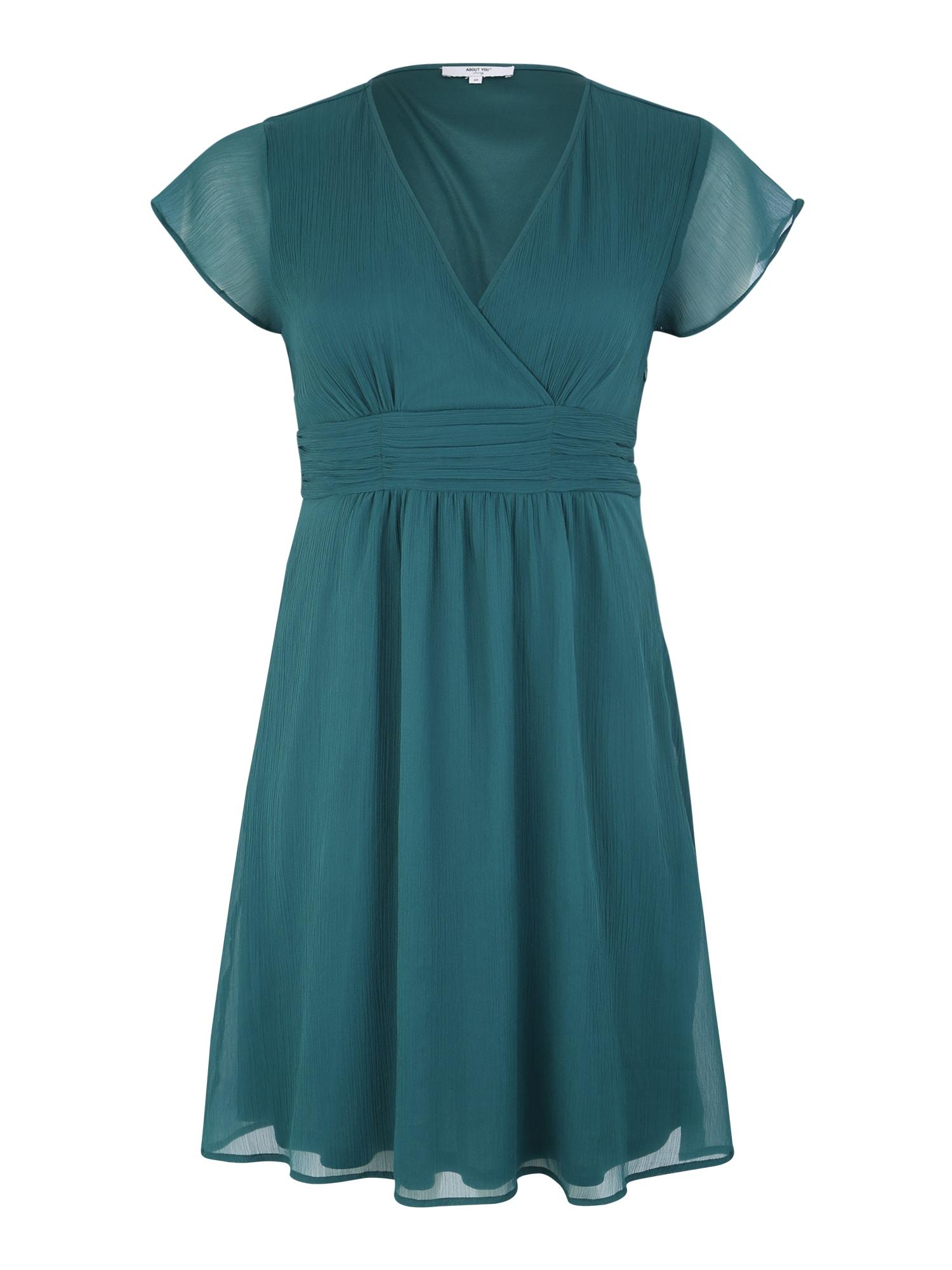 ABOUT YOU Curvy Kokteilové šaty 'Evelin'  smaragdová