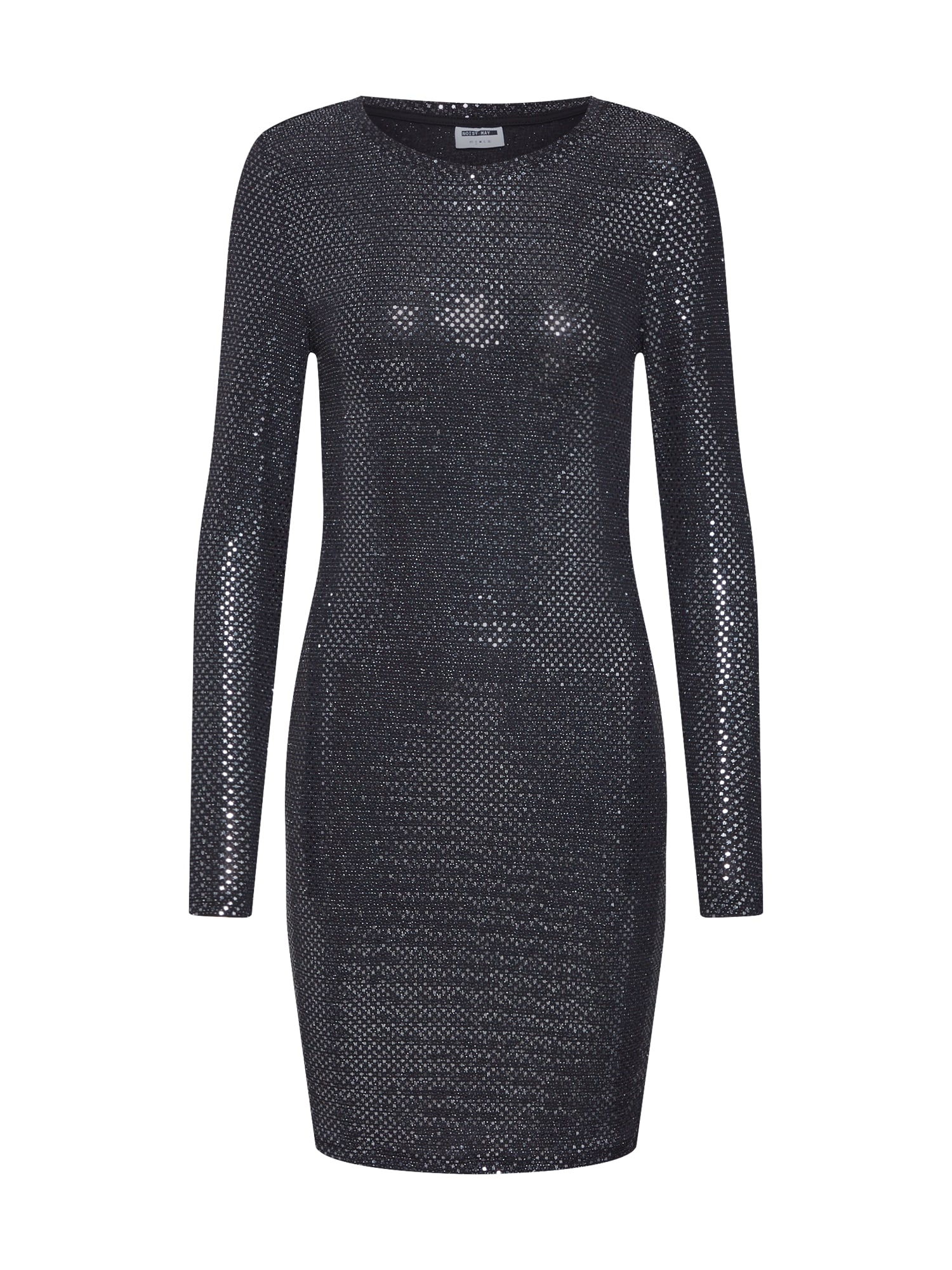 Noisy May Rochie 'NMNIGHT L/S DRESS 6'  negru / argintiu