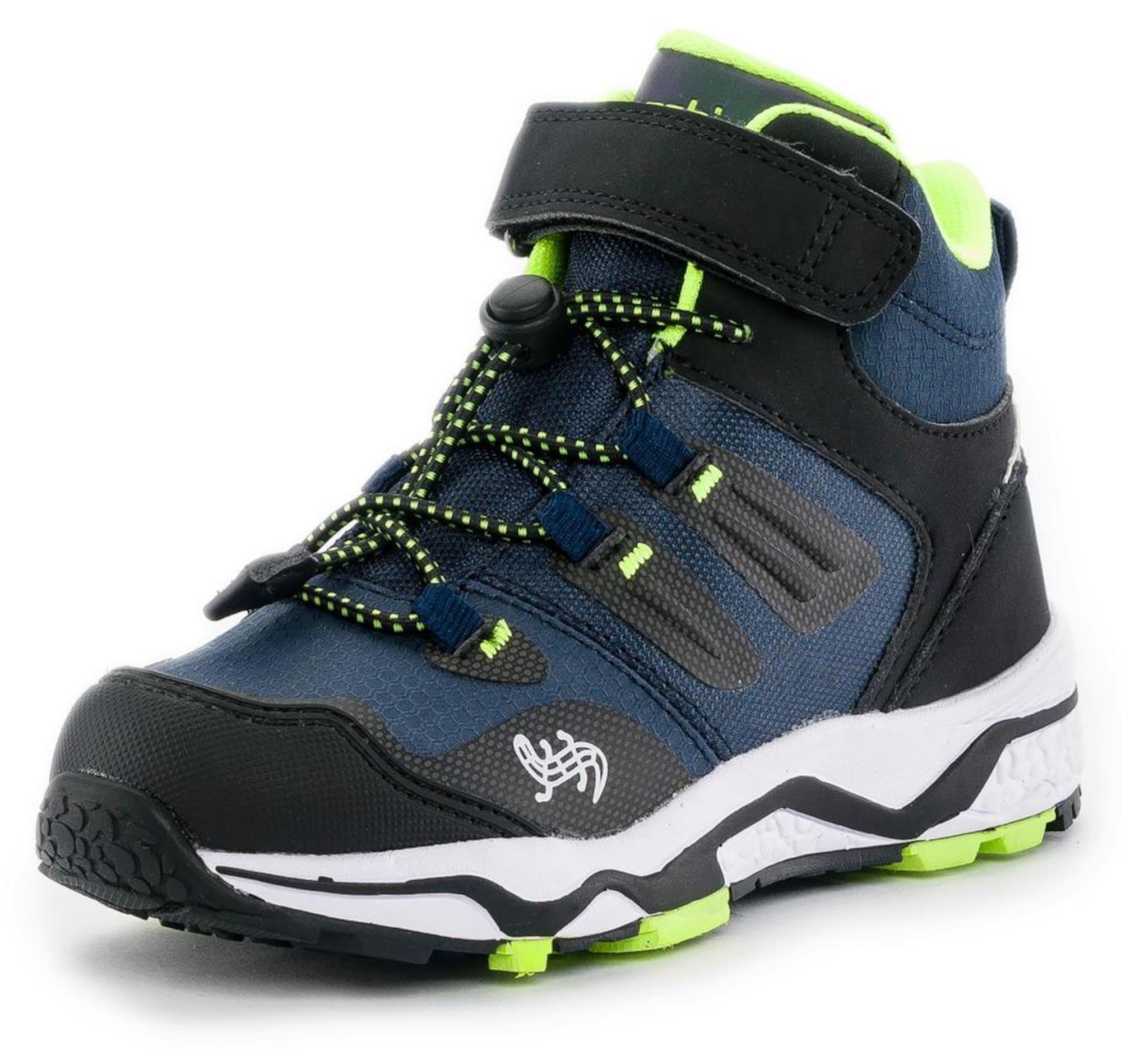 LURCHI Sniego batai tamsiai mėlyna / juoda / neoninė žalia