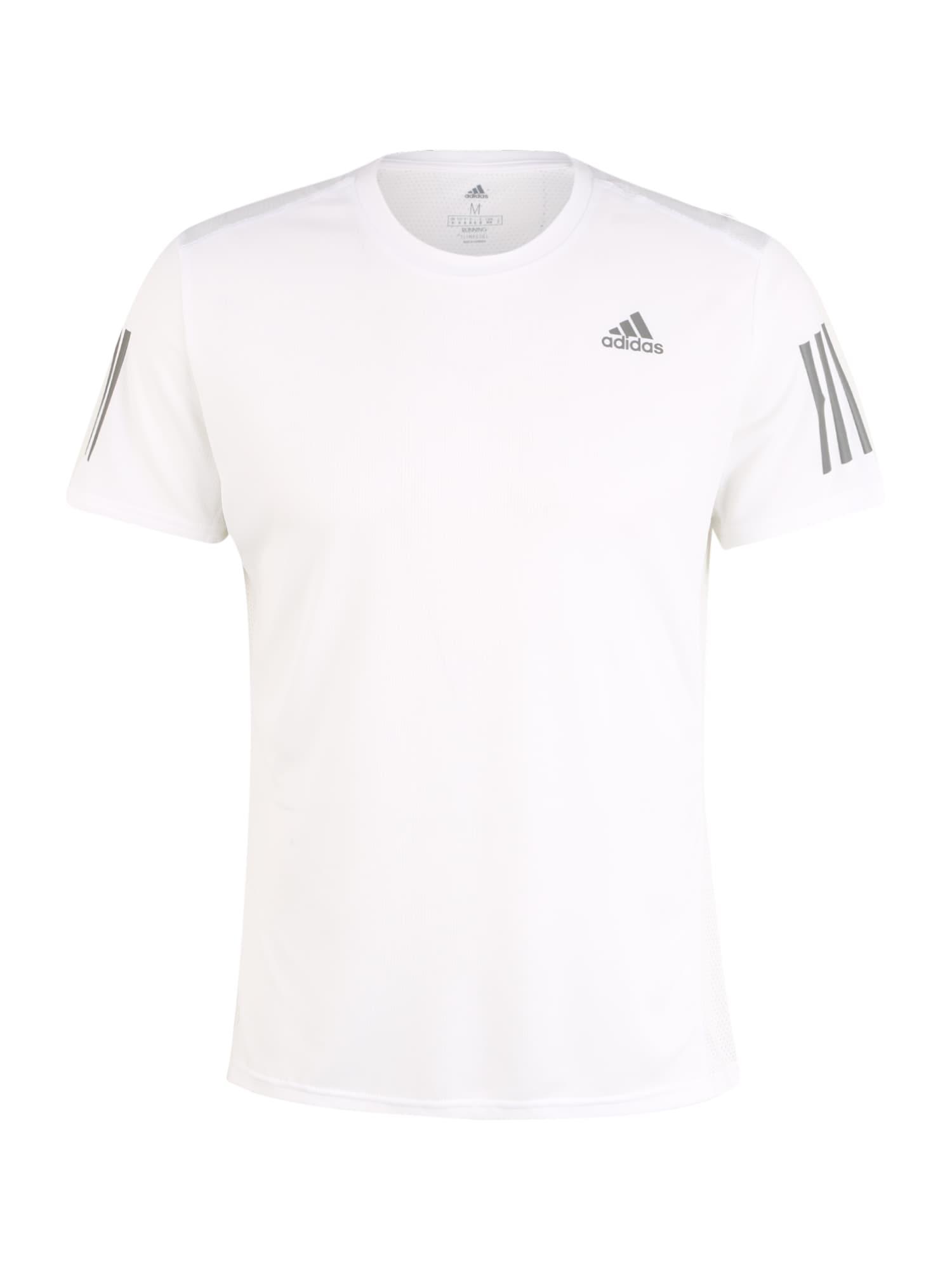 ADIDAS PERFORMANCE Sportiniai marškinėliai balta / tamsiai pilka