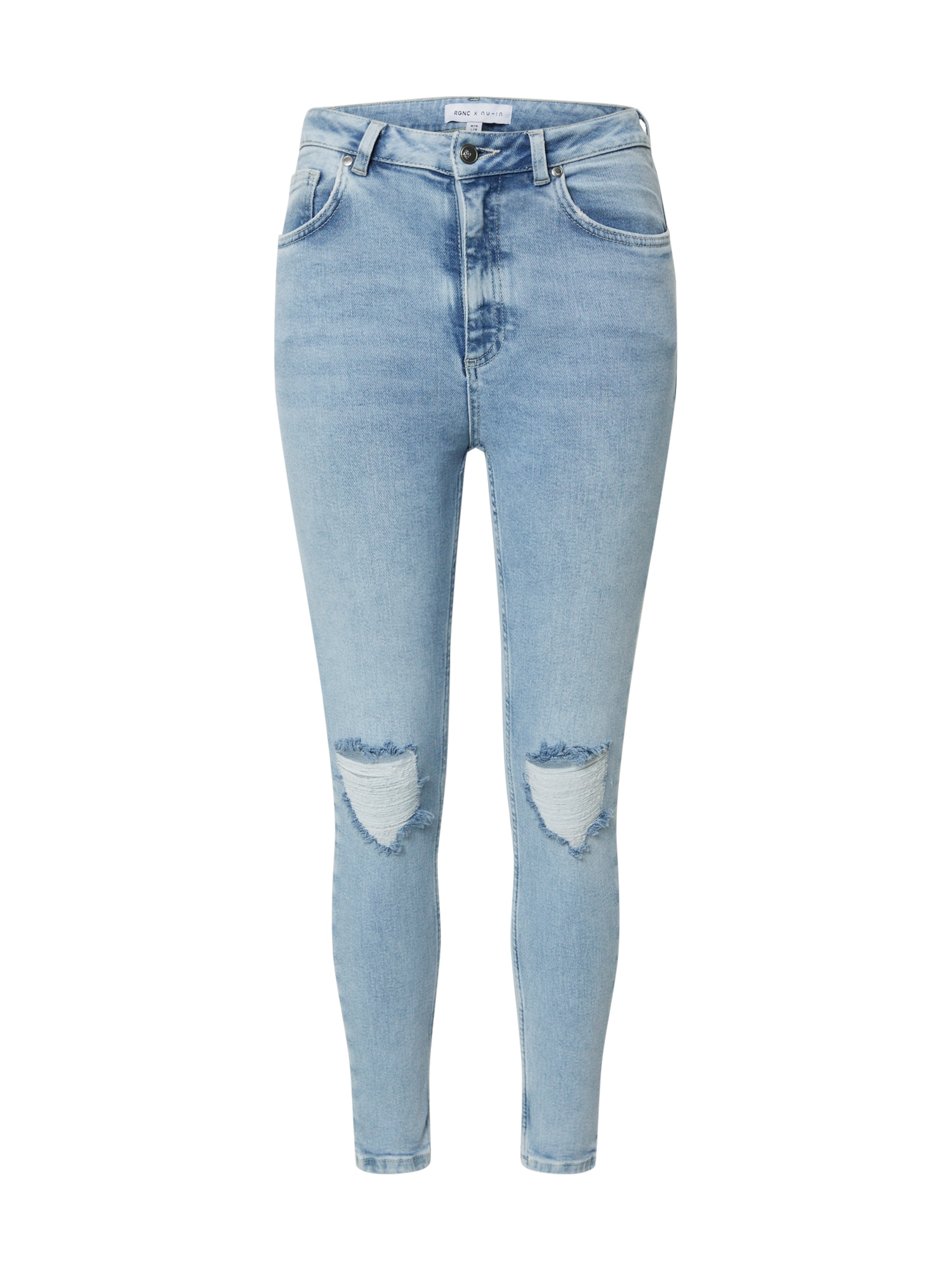 NU-IN Džínsy 'High Rise Distressed Skinny Jeans'  modrá denim