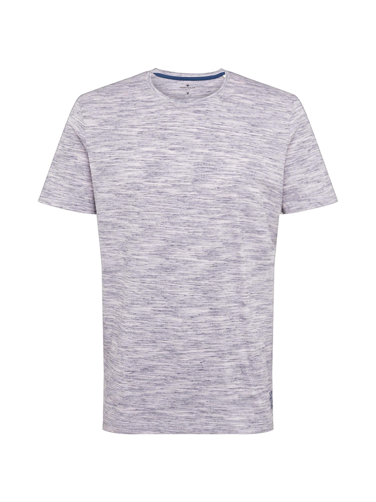 TOM TAILOR Tričko  šedobiela / sivá melírovaná
