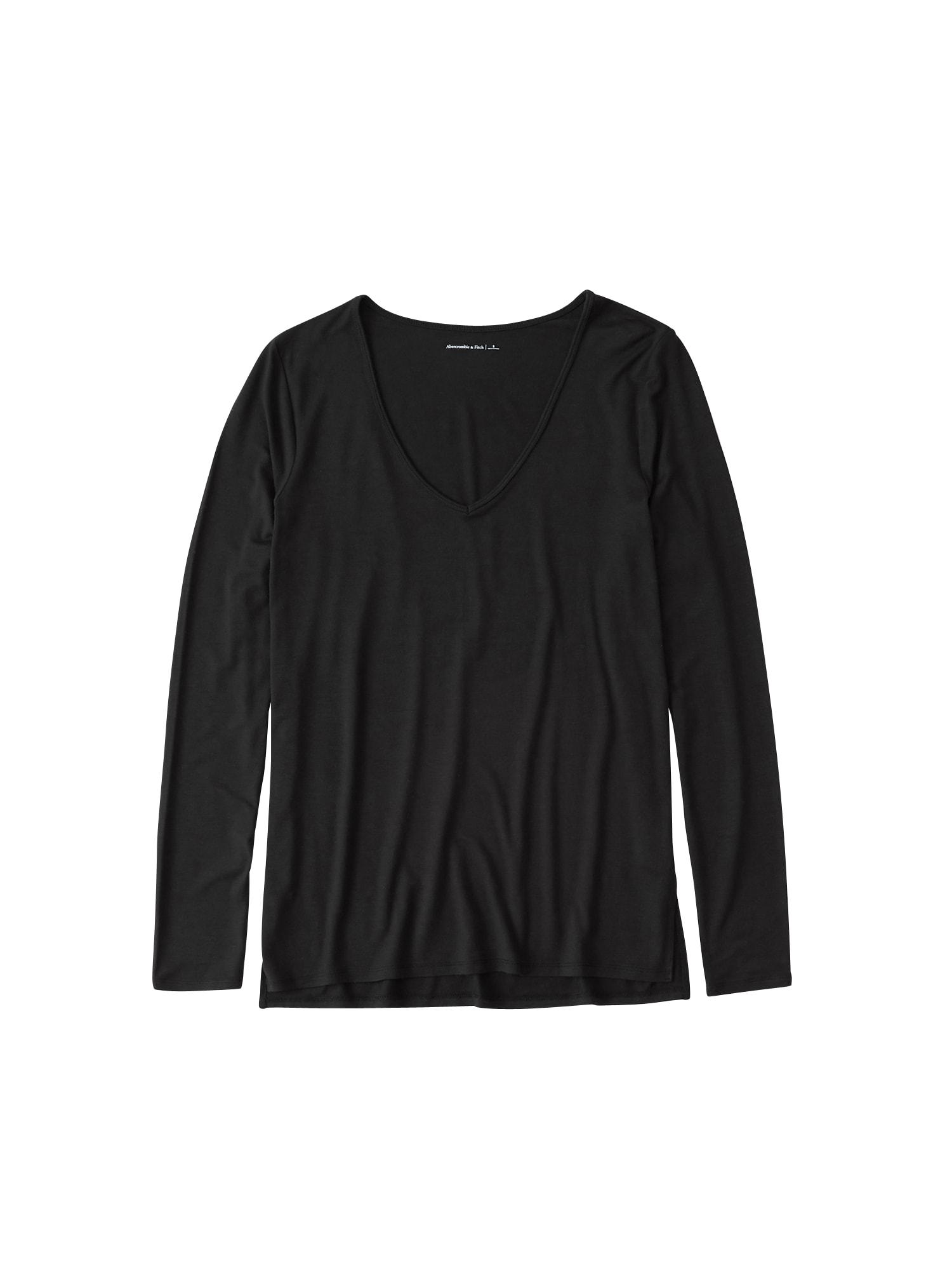 Abercrombie & Fitch Marškinėliai 'XM19-LS SOFT AF TEE 3CC' juoda