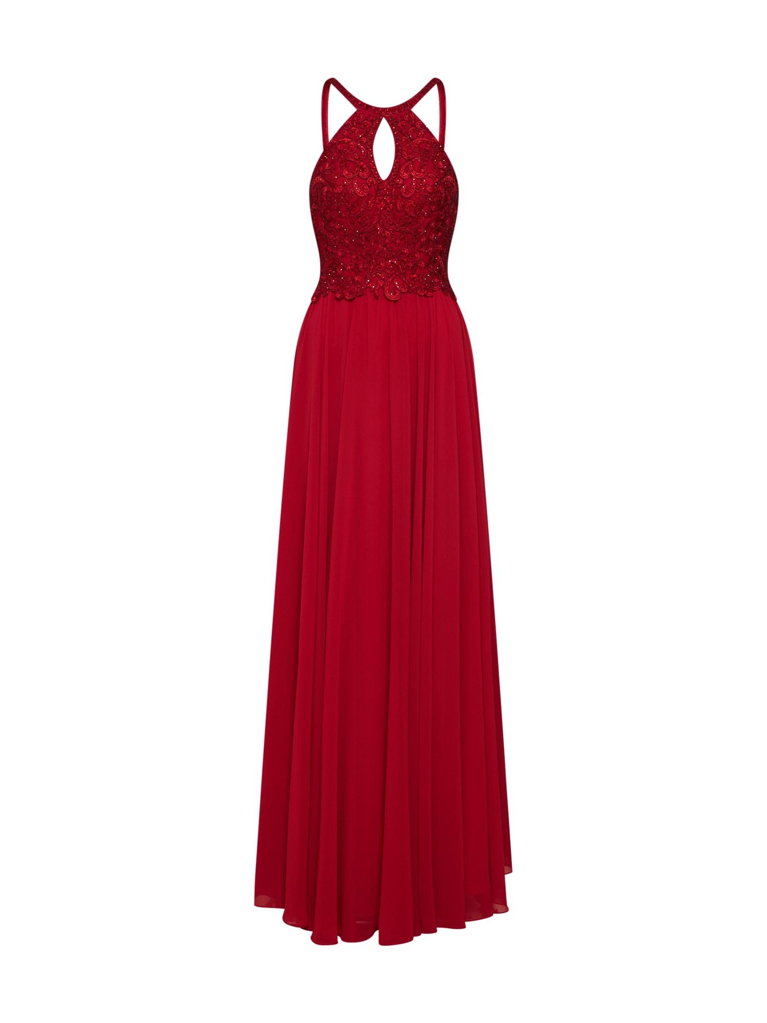 Společenské šaty červená třešeň LUXUAR