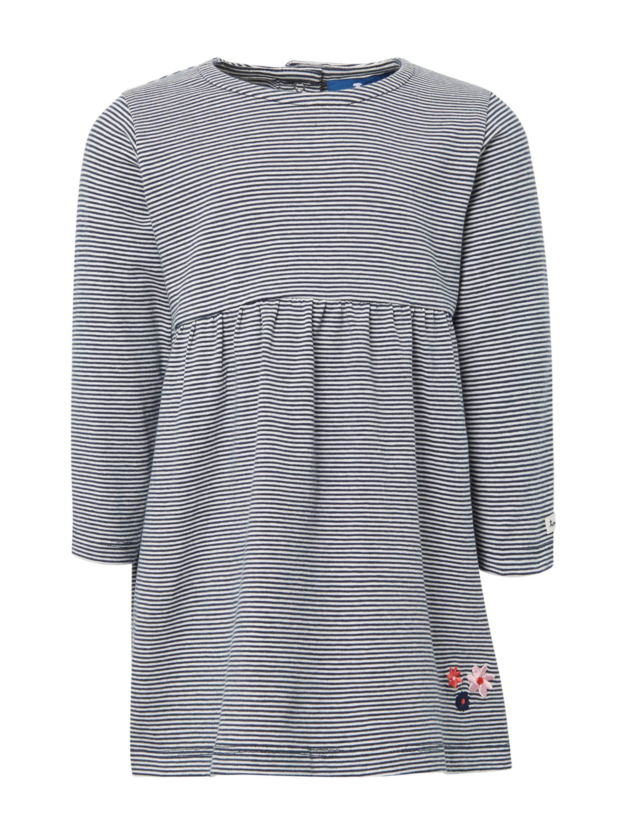 Kinder,  Mädchen,  Kinder TOM TAILOR Kleid blau,  weiß, schwarz | 04060463695966