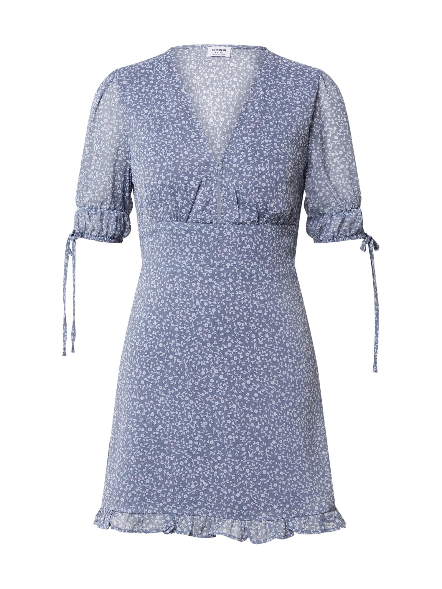 Cotton On Letné šaty 'SANDRA'  dymovo modrá / svetlomodrá