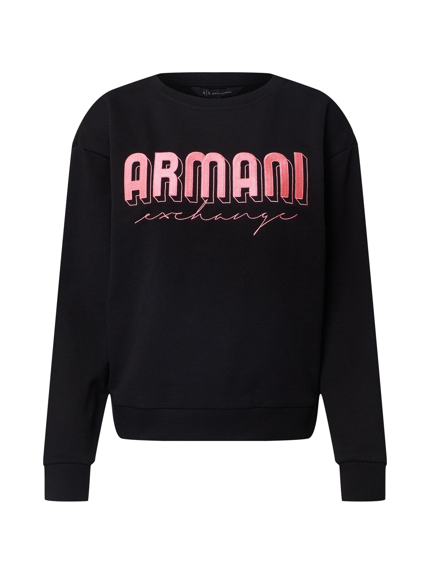 ARMANI EXCHANGE Megztinis be užsegimo rožinė / juoda