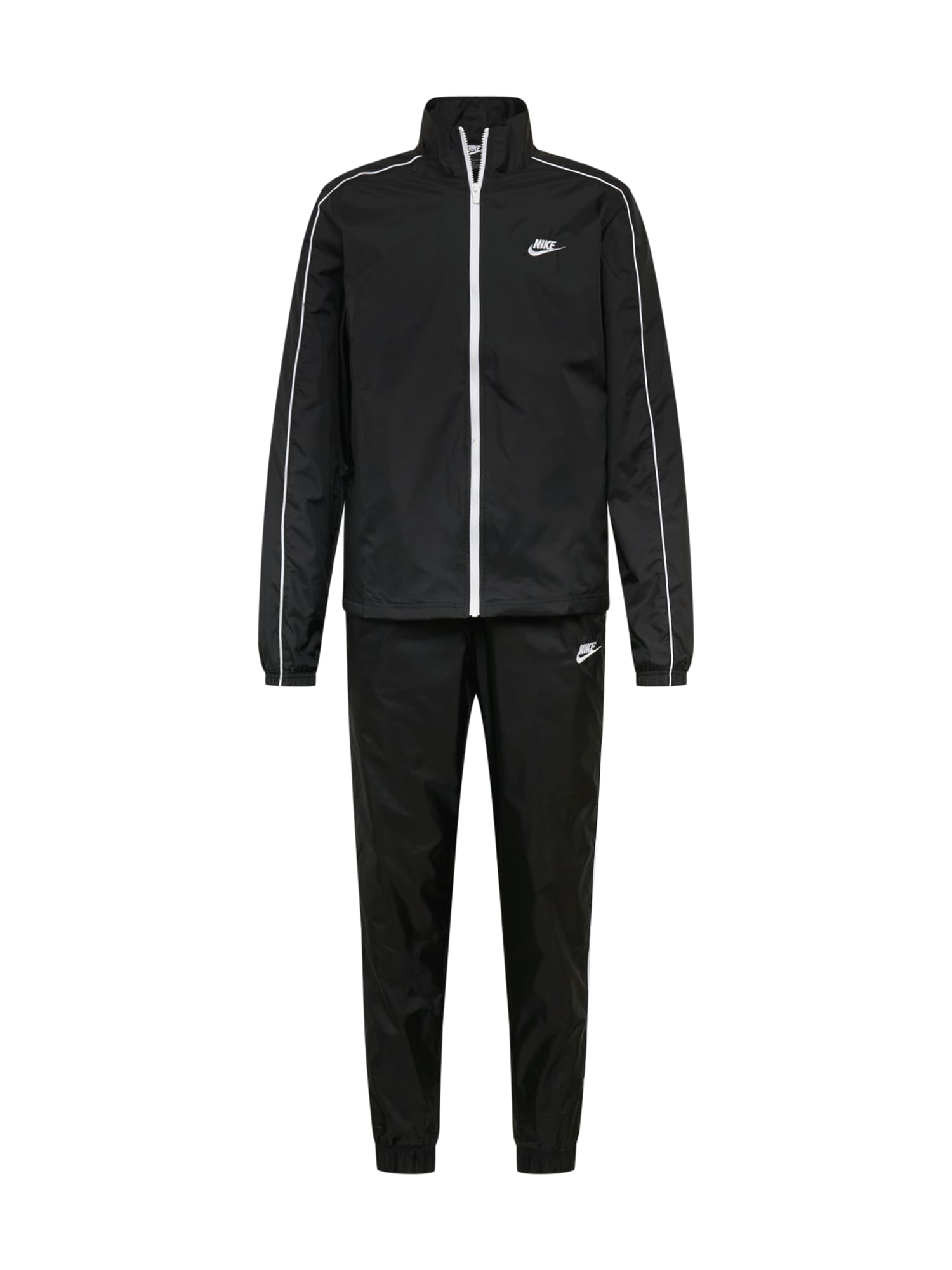 Nike Sportswear Laisvalaikio kostiumas juoda / balta