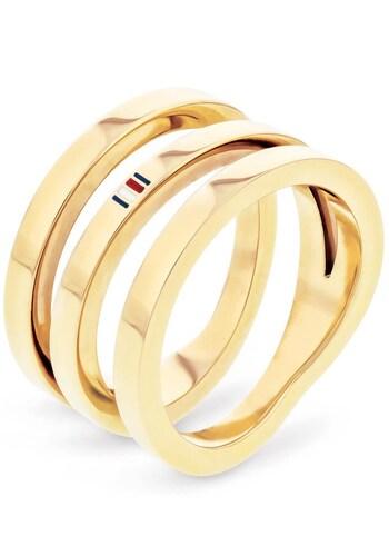 Ringe für Frauen - TOMMY HILFIGER Fingerring »CLASSIC SIGNATURE, 2701100« gold  - Onlineshop ABOUT YOU