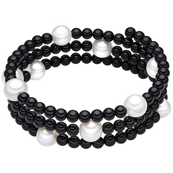 Armbaender für Frauen - Valero Pearls Onyx Armband mit Süßwasser Zuchtperlen schwarz weiß  - Onlineshop ABOUT YOU