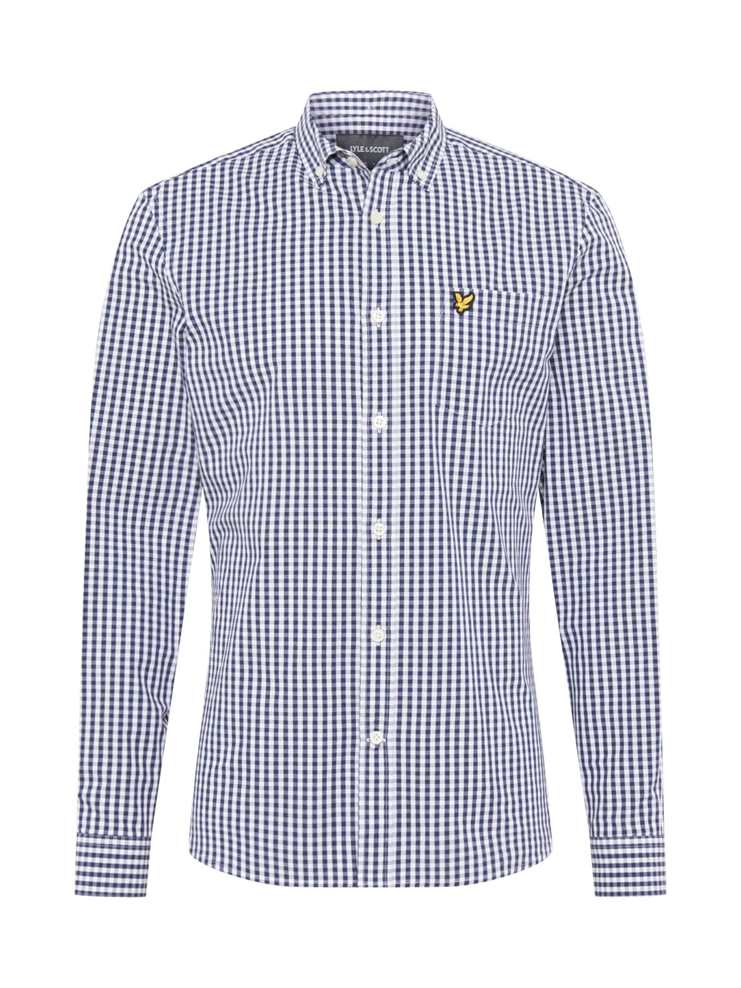 Lyle & Scott Marškiniai mėlyna / balta