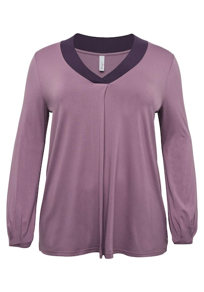 Oberteile für Frauen - Langarmshirt › SHEEGO › mauve dunkellila  - Onlineshop ABOUT YOU