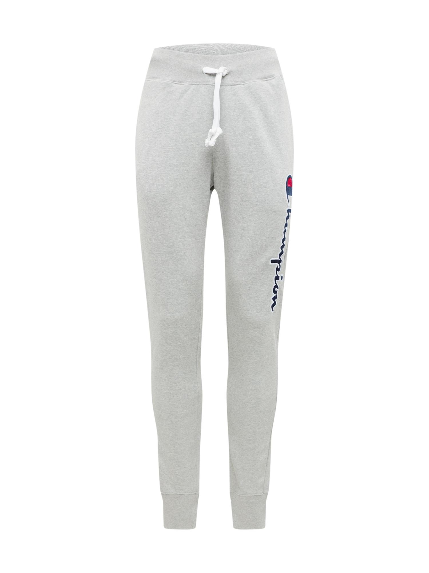 Champion Authentic Athletic Apparel Kelnės šviesiai pilka / tamsiai mėlyna / balta / raudona