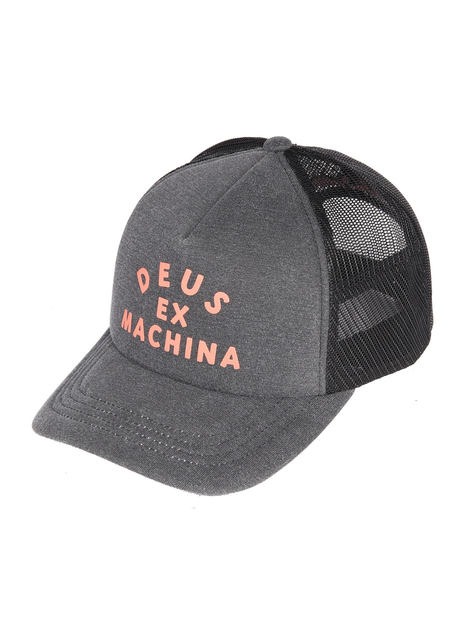 DEUS EX MACHINA Kepurė 'Roller' pilka / oranžinė / juoda