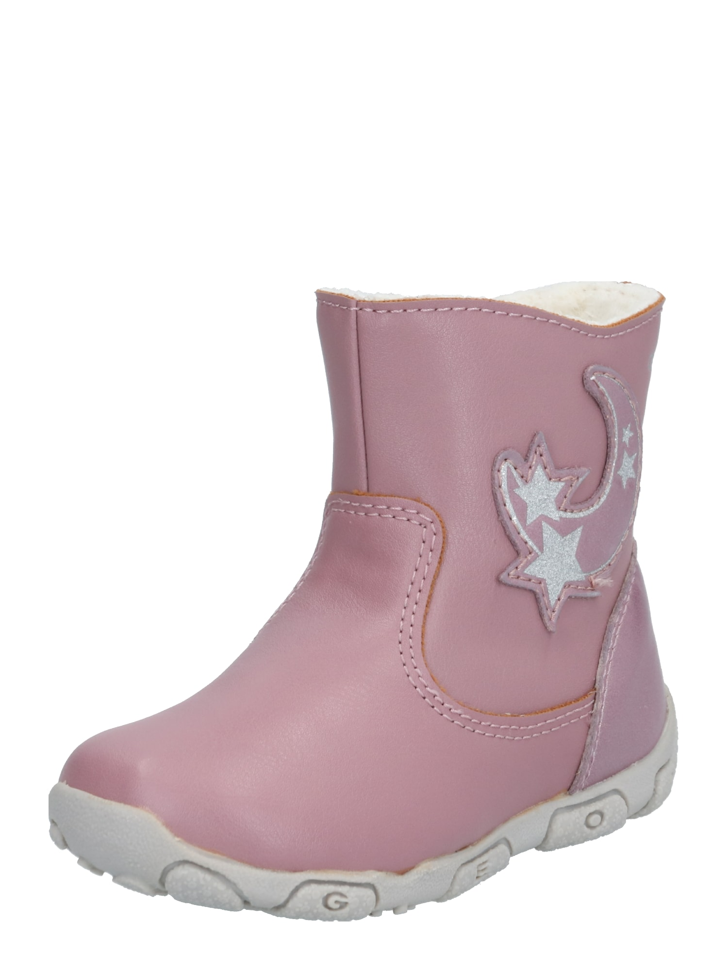 GEOX Kids Auliniai batai su kulniuku 'Antique' ryškiai rožinė spalva