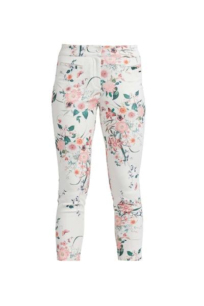 Hosen für Frauen - LauRie 7 8 Hose Mira mit Allover Print weiß  - Onlineshop ABOUT YOU