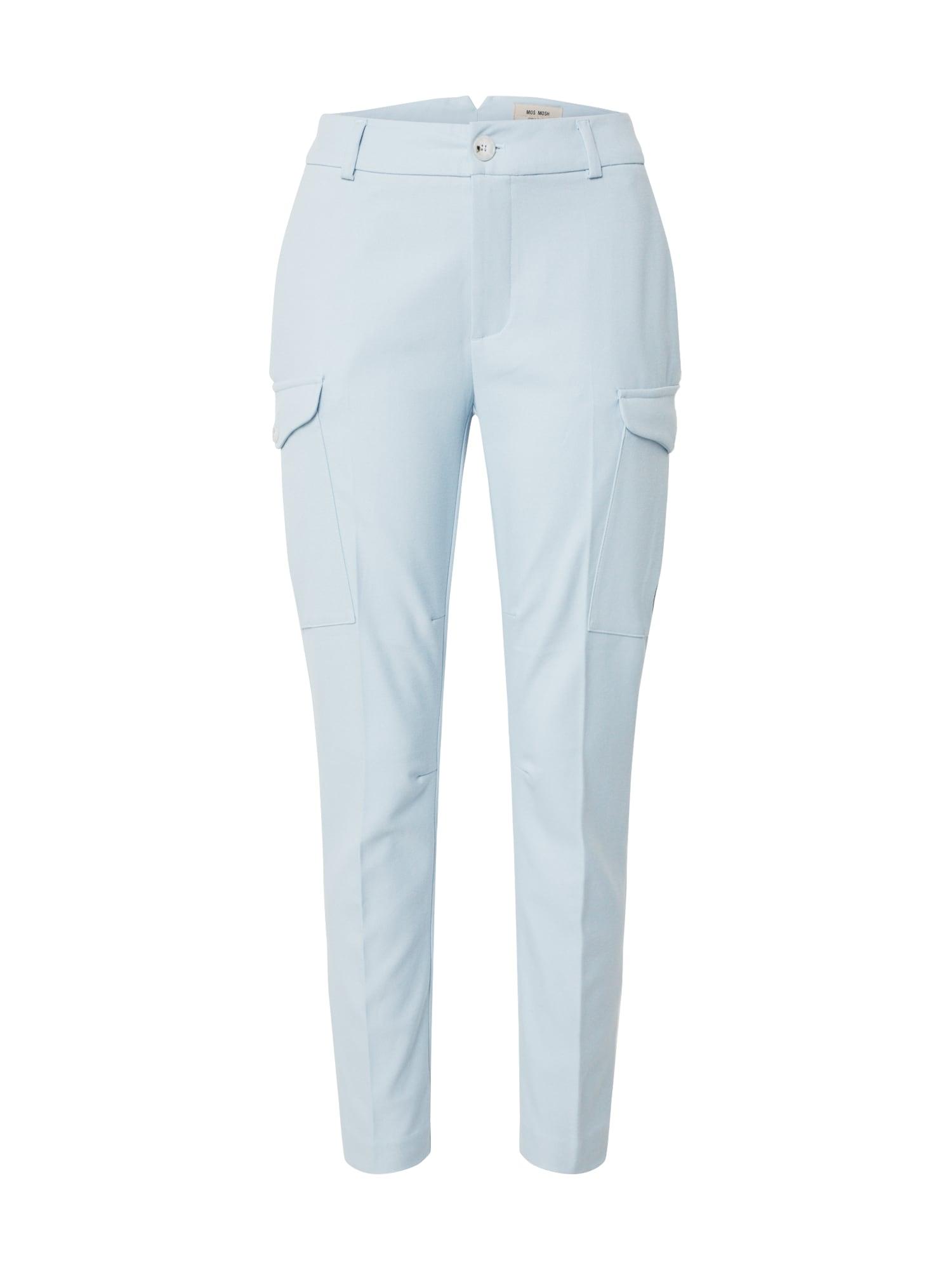 MOS MOSH Laisvo stiliaus kelnės 'Ray Twiggy' šviesiai mėlyna