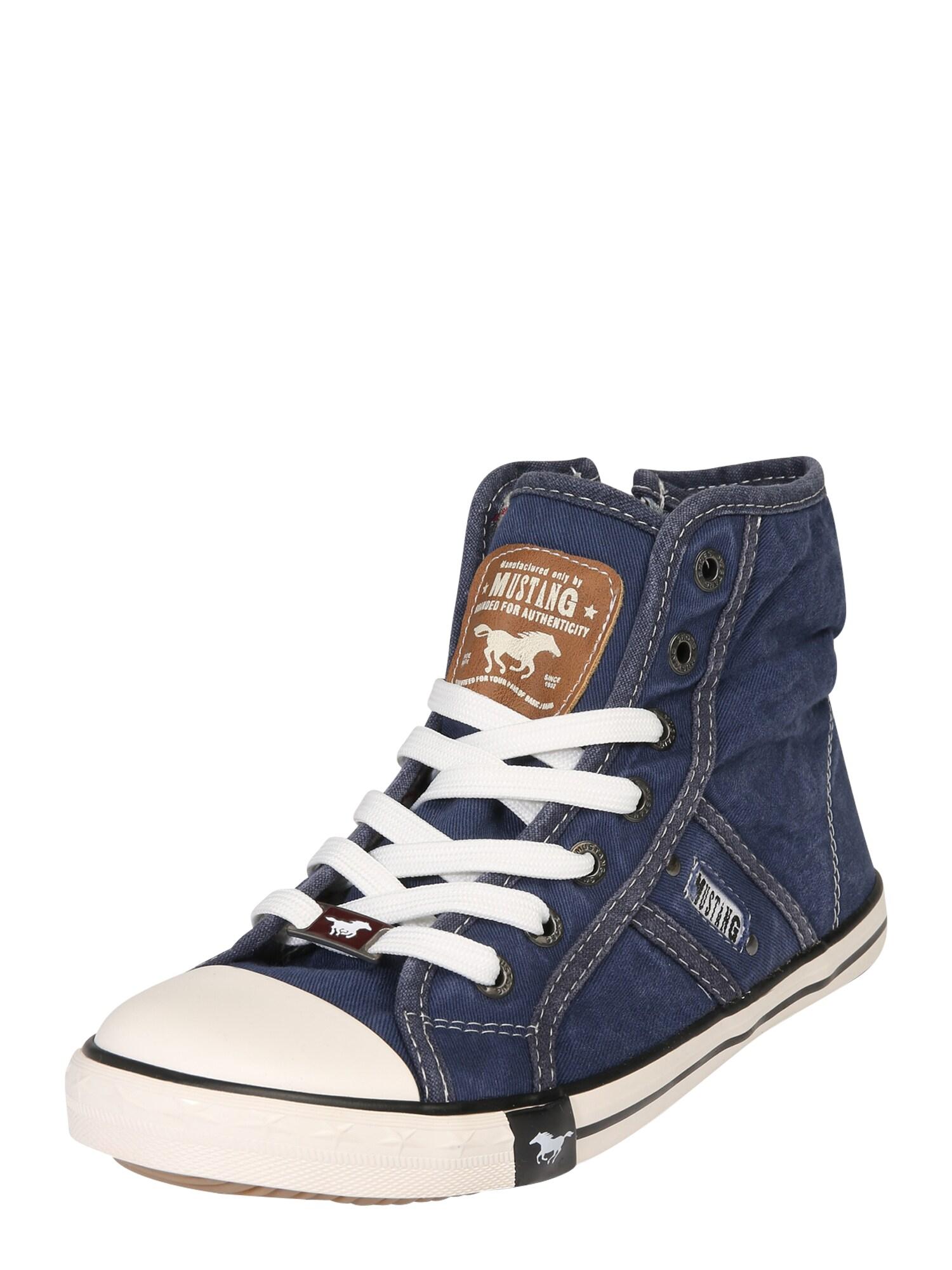 Kotníkové tenisky modrá džínovina MUSTANG