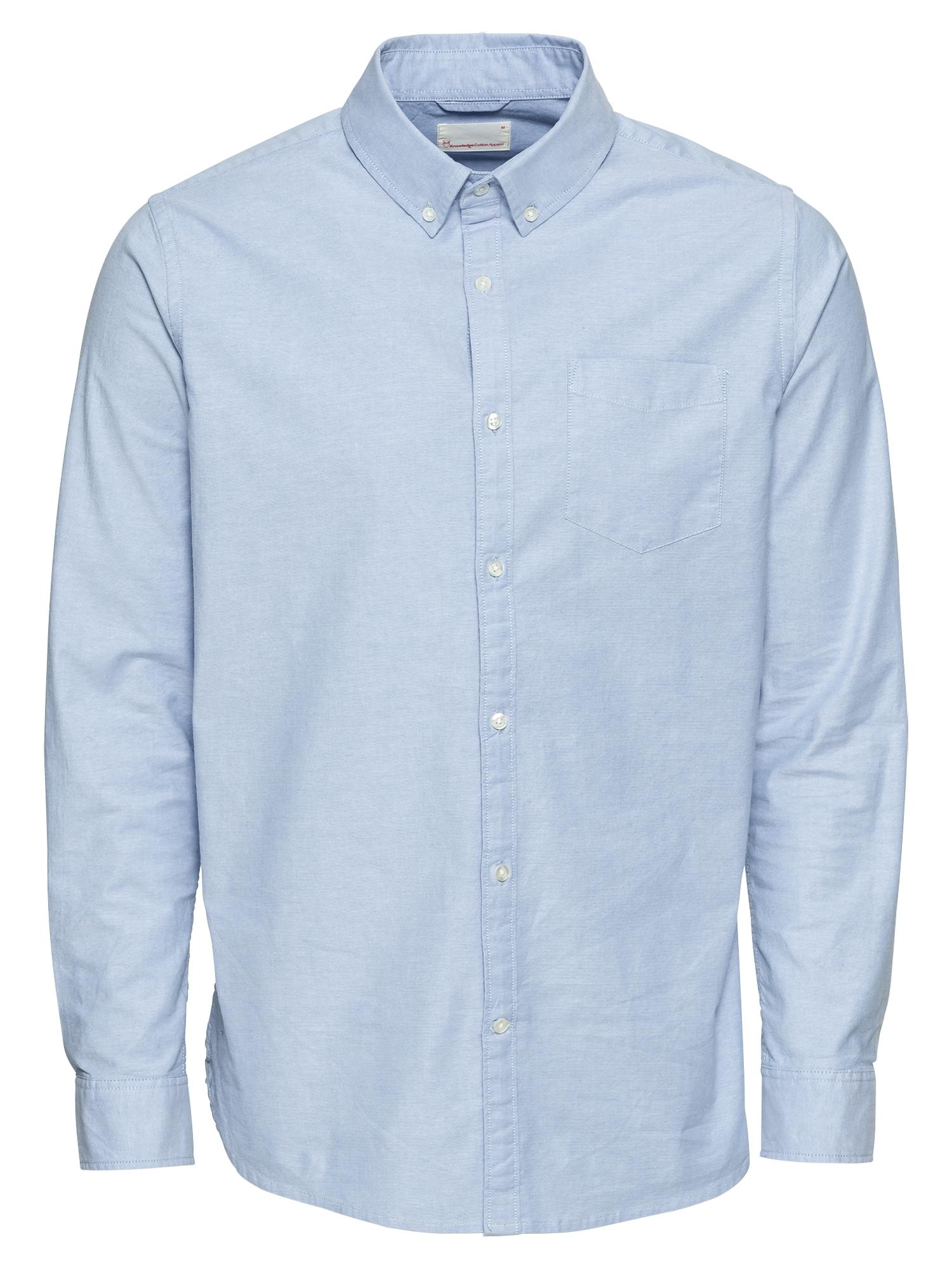 Košile Strethced oxford shirt světlemodrá KnowledgeCotton Apparel