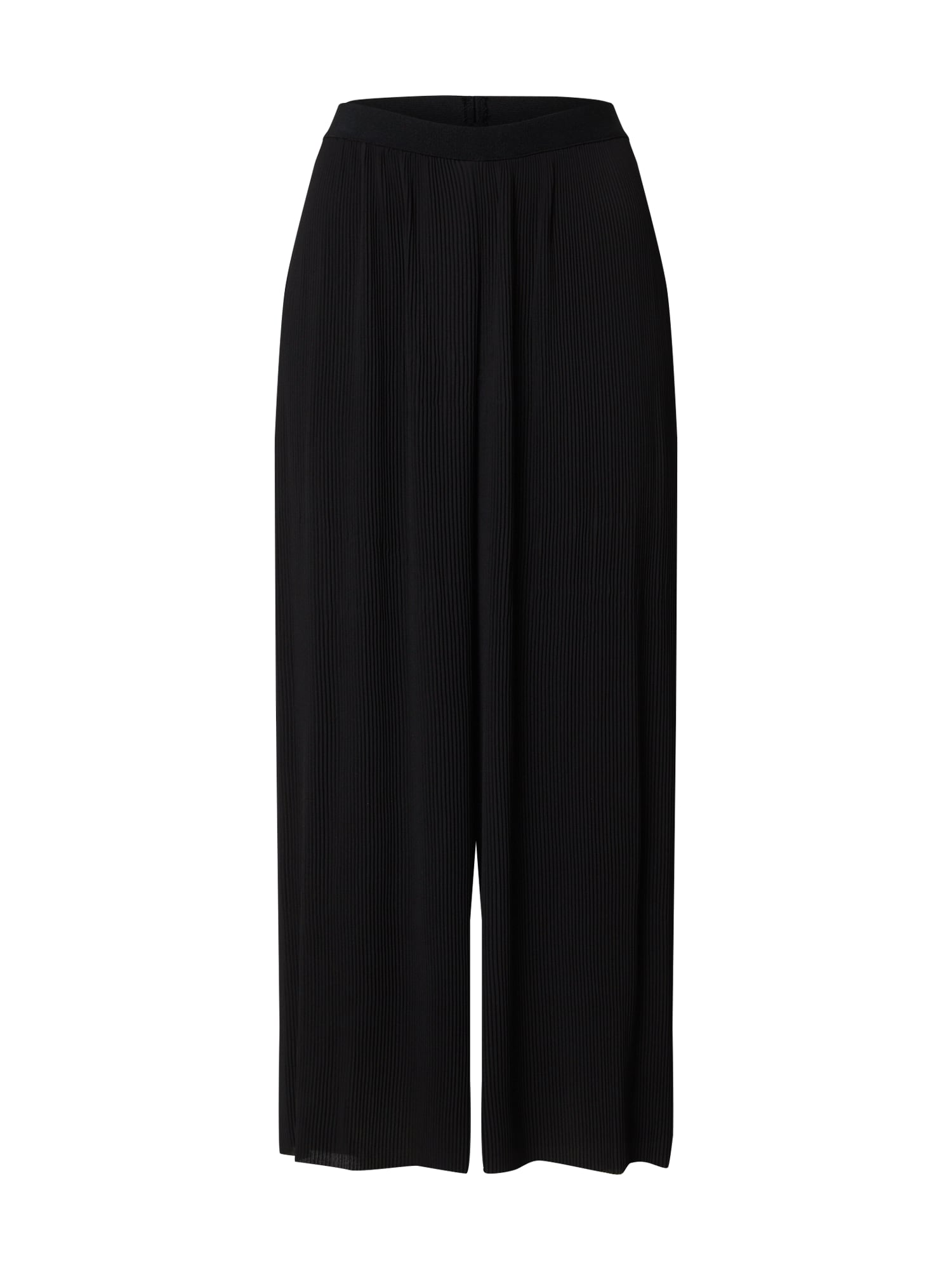 ONLY Nohavice 'ONLPEPPE CROPPED PLISSE PANT WVN'  čierna