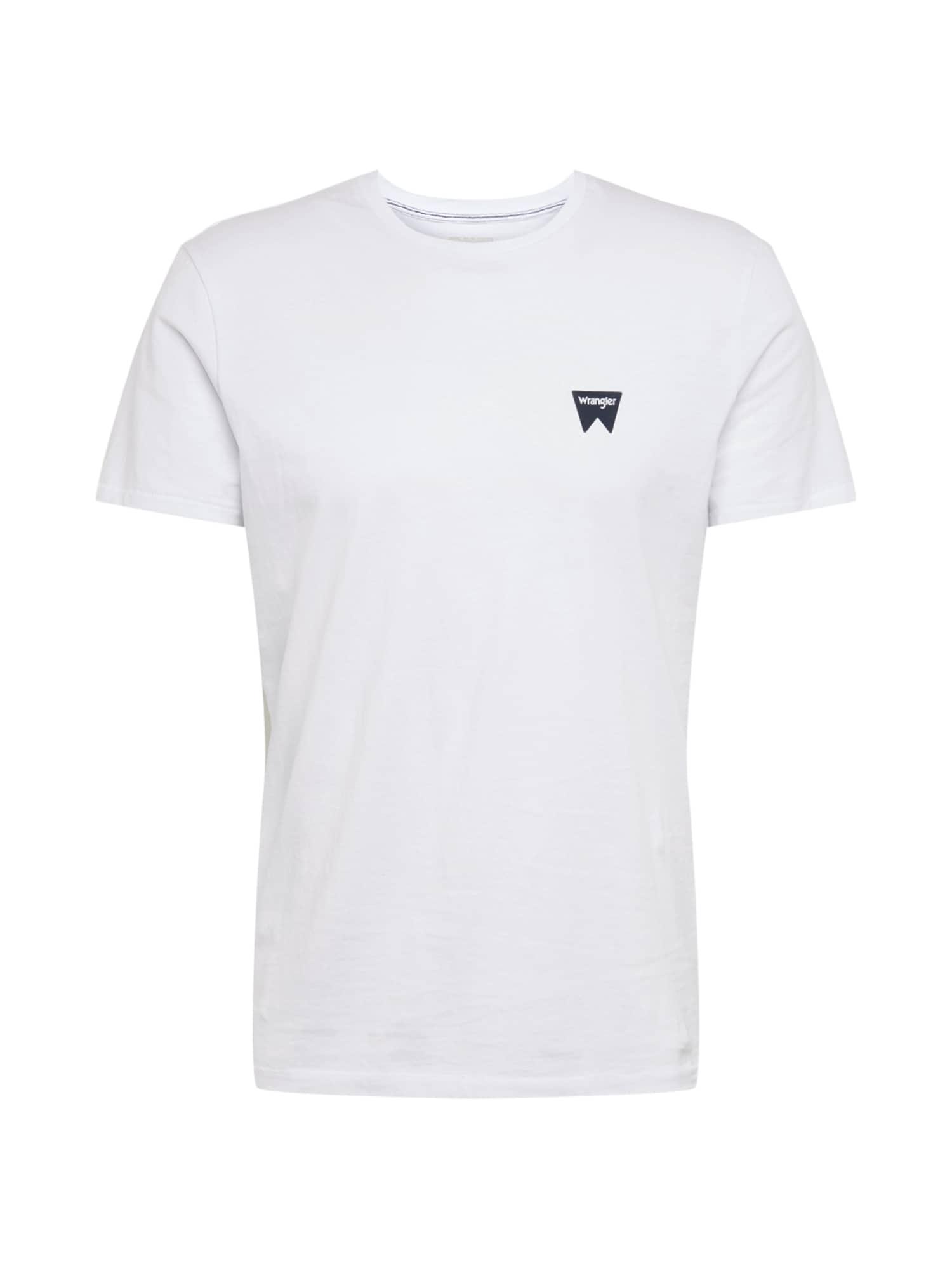 WRANGLER Marškinėliai balta / juoda