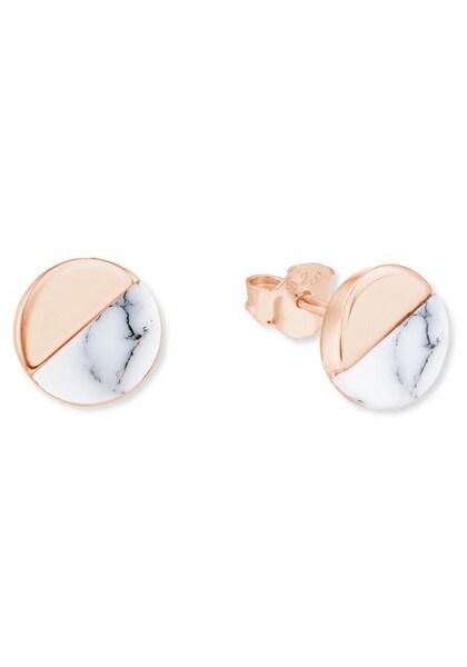 Ohrringe für Frauen - S.Oliver RED LABEL Ohrstecker '2023638' gold weiß  - Onlineshop ABOUT YOU