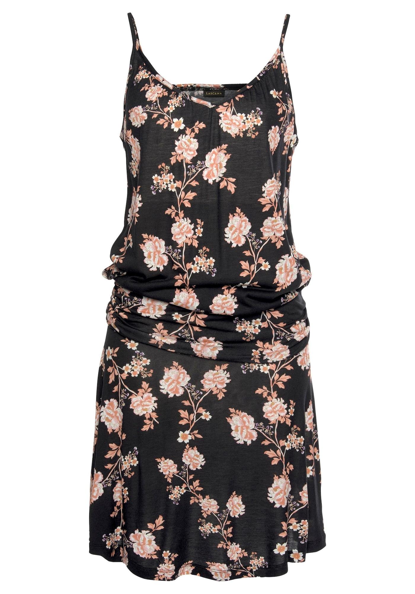 LASCANA Suknelė rožių spalva / juoda