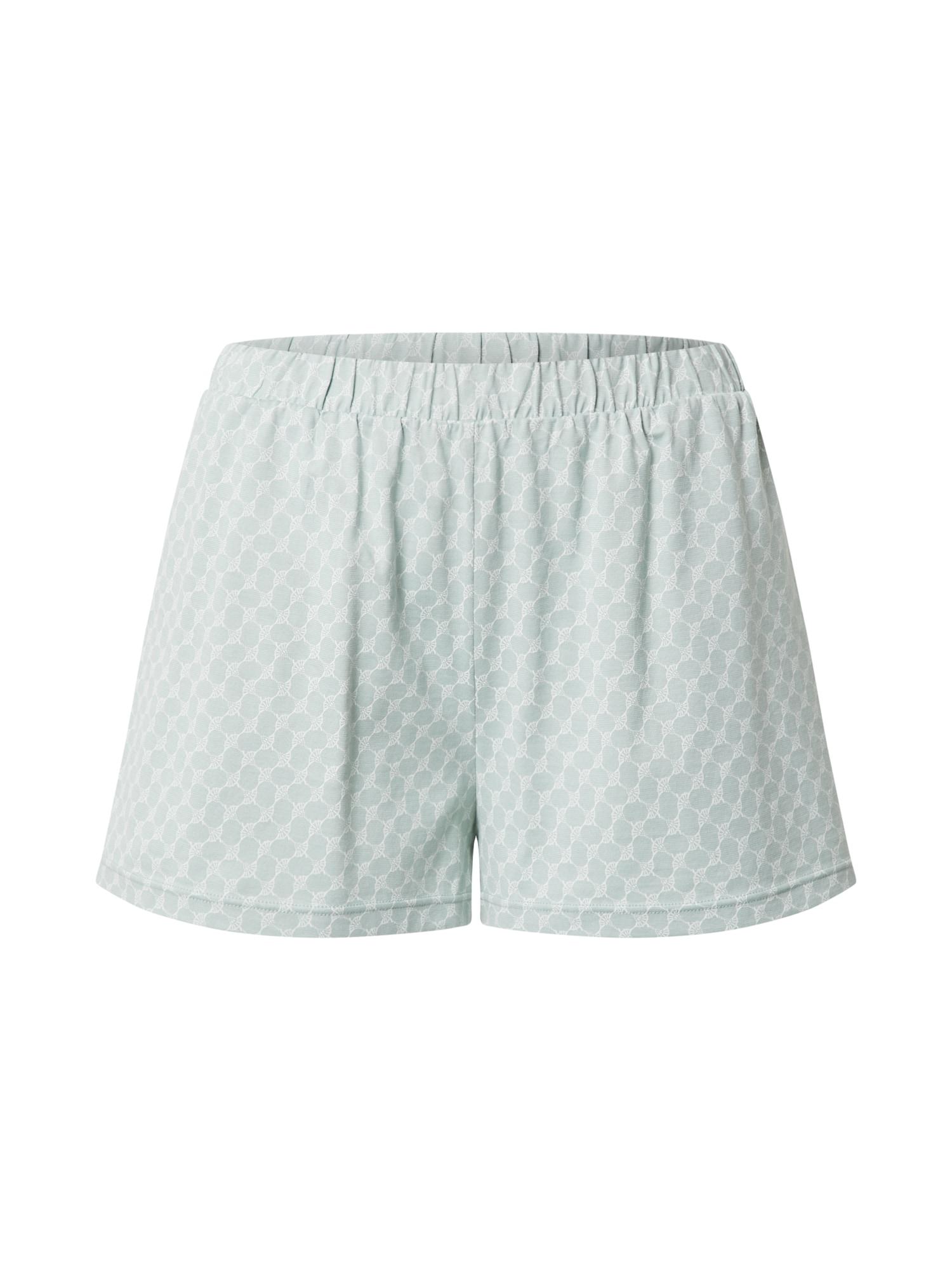 JOOP! Bodywear Pižaminės kelnės nefrito spalva / balta
