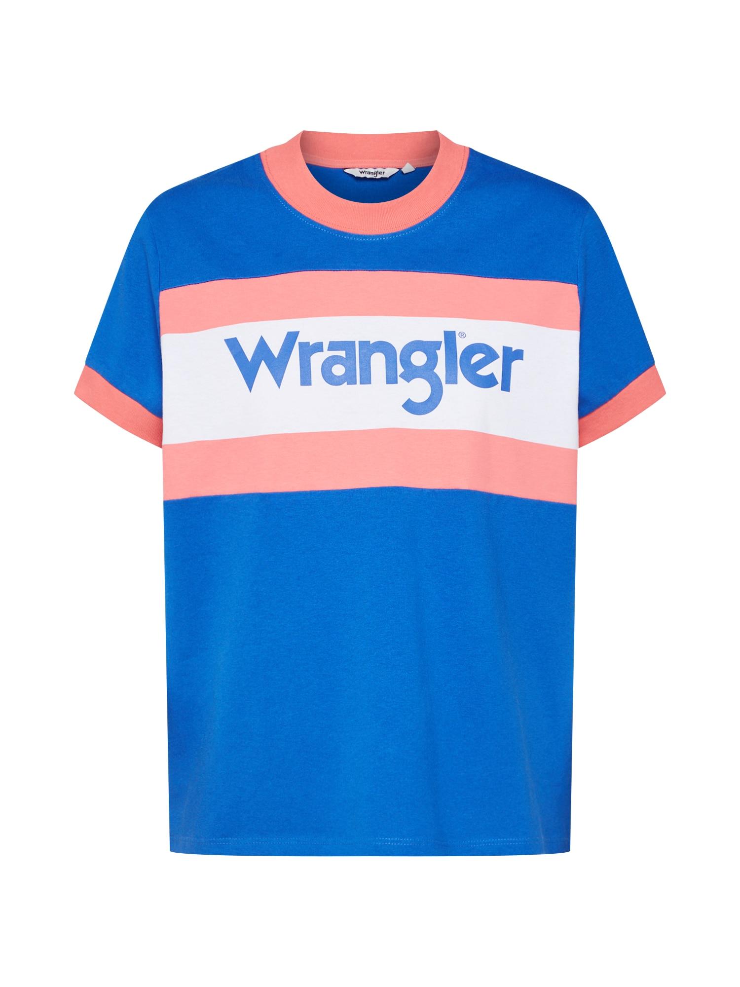 Tričko 80´S modrá starorůžová WRANGLER