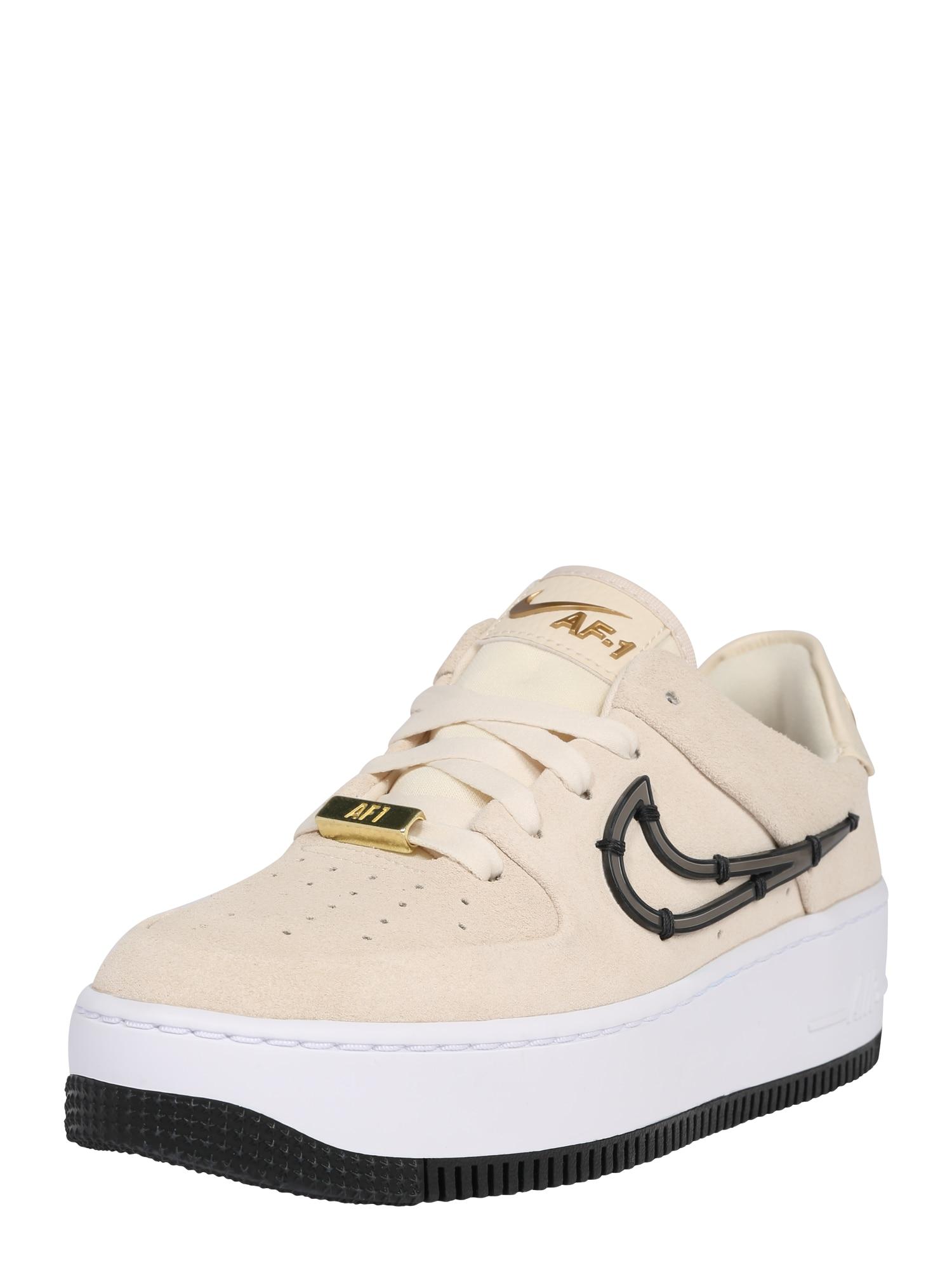Nike Sportswear Tenisky 'Air Force 1'  černá / krémová