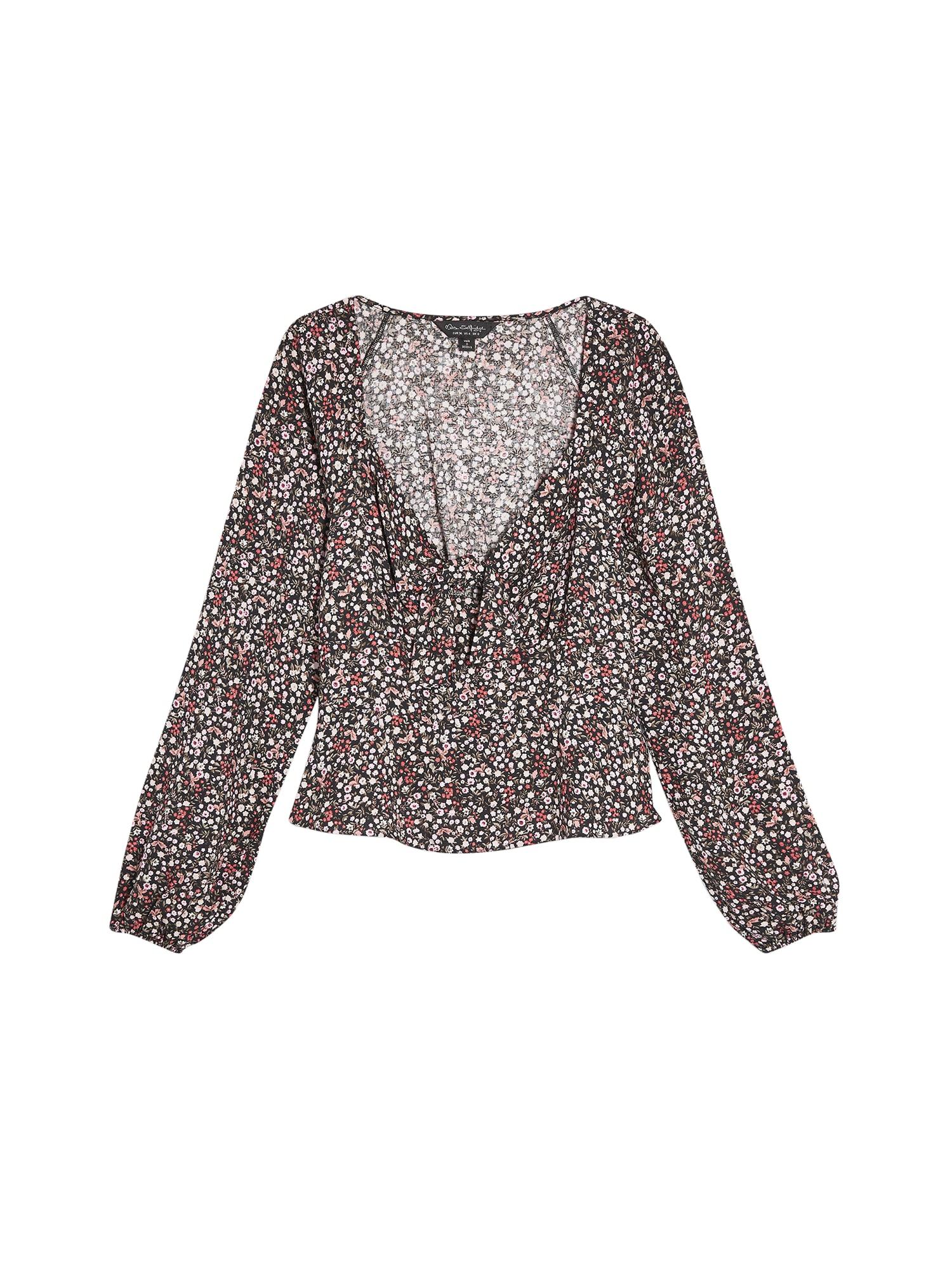 Miss Selfridge Bluză 'DITSY BUNNY TIE TOP'  culori mixte
