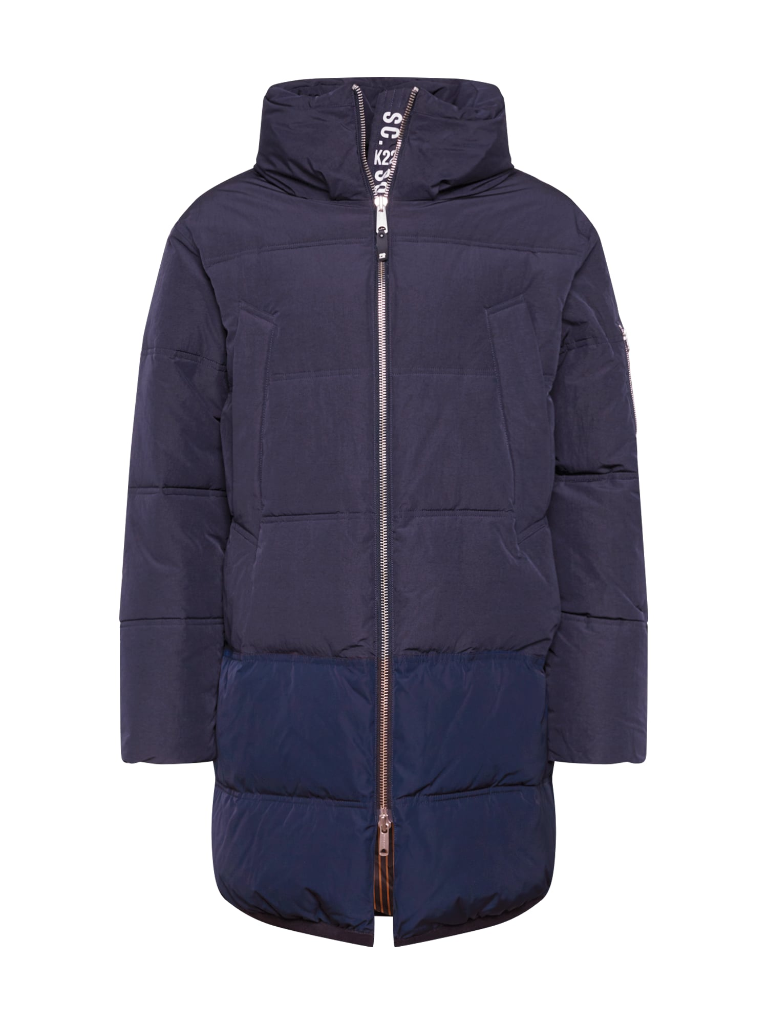 SCOTCH & SODA Žieminis paltas 'Long quilted down jacket' nakties mėlyna