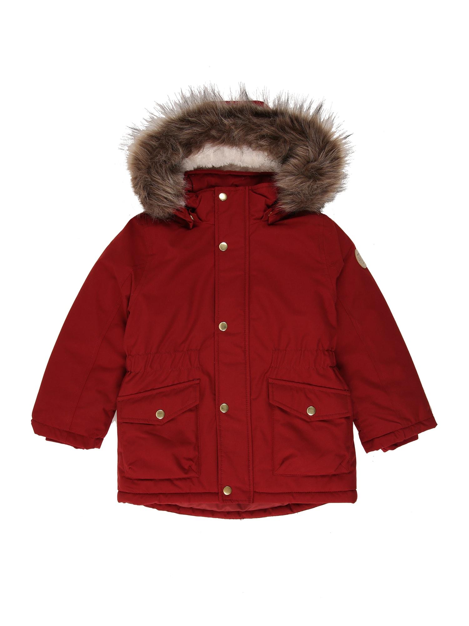 NAME IT Žieminė striukė karmino raudona