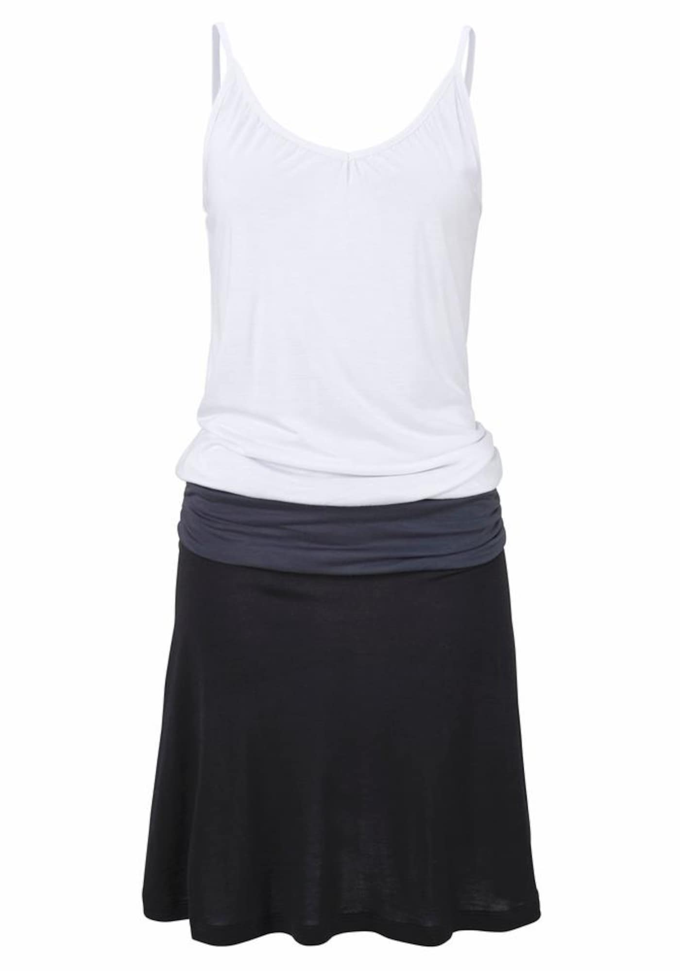 BEACH TIME Paplūdimio suknelė tamsiai pilka / juoda / balta